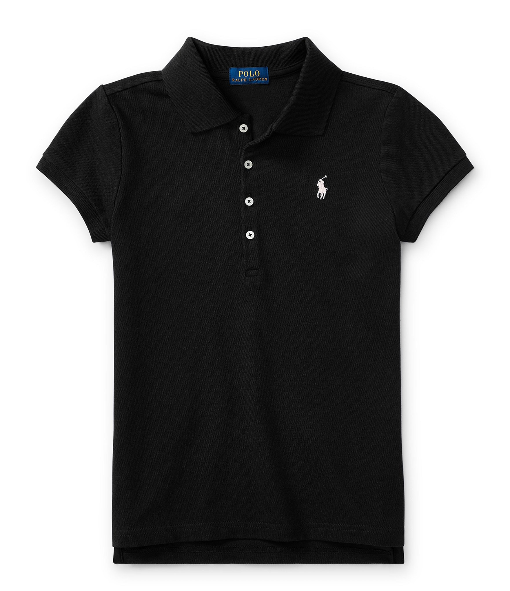 ralph lauren childrenswear big girls 7 16 short sleeve mesh polo shirt dillards. Black Bedroom Furniture Sets. Home Design Ideas