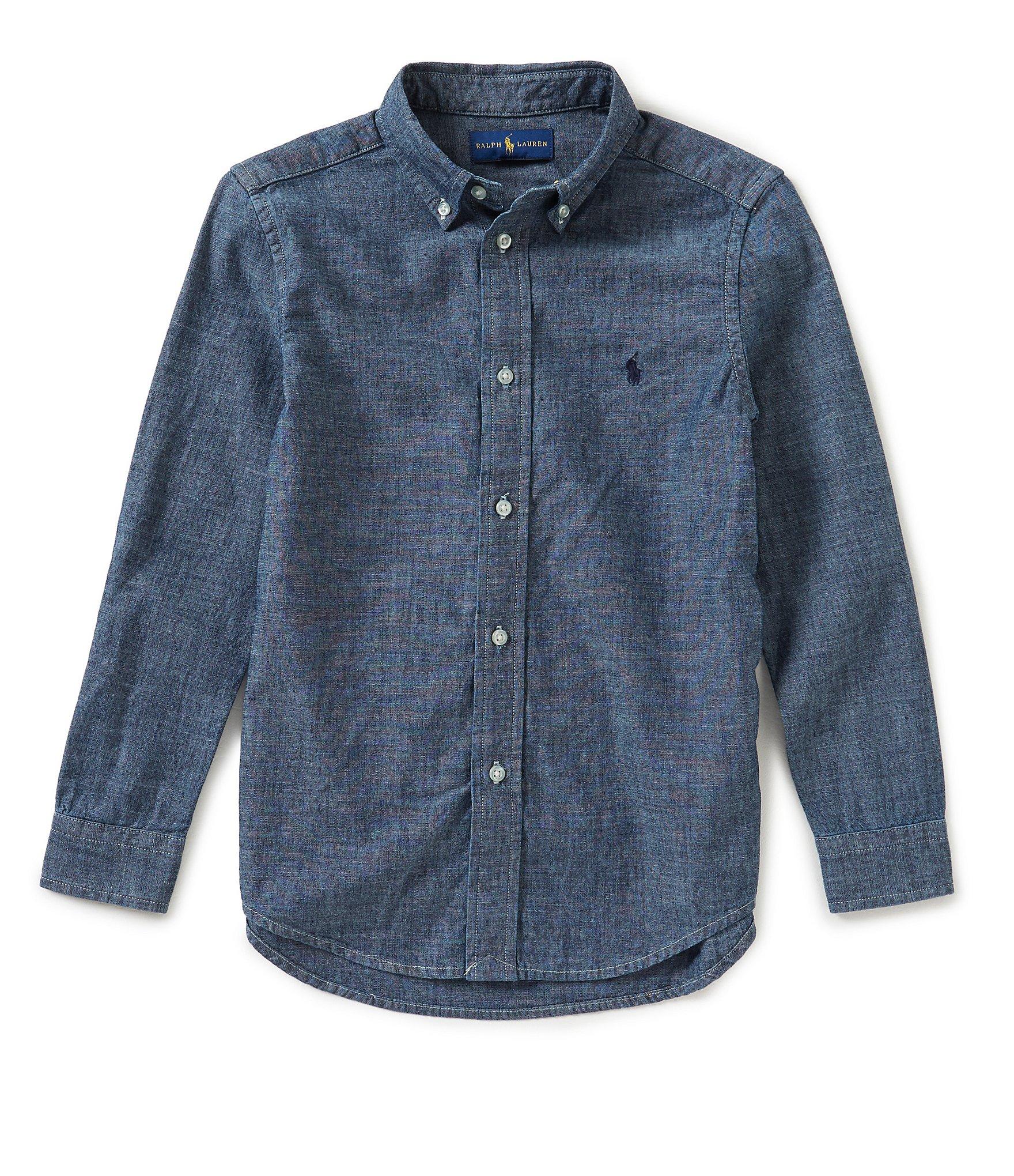Ralph lauren childrenswear little boys 2t 7 button down for Chambray shirt for kids