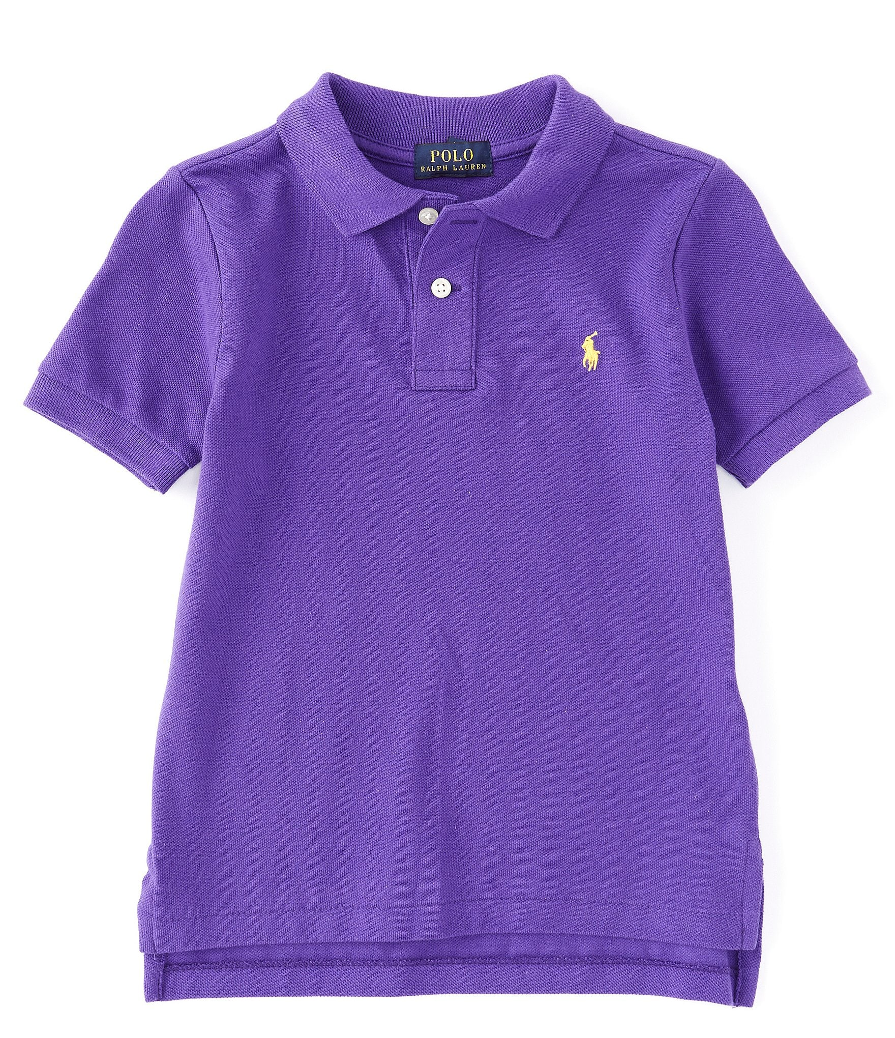 Purple and gold diaper shirt