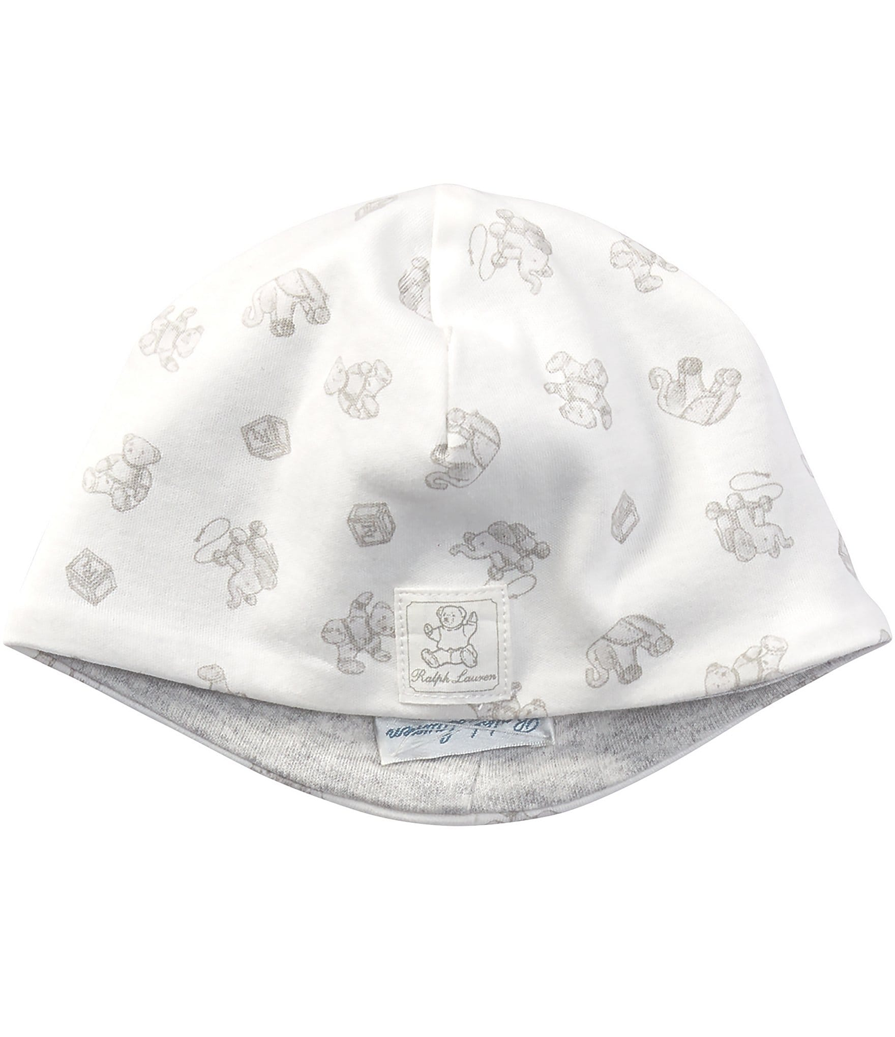 719c30e6c0ebe Ralph Lauren Childrenswear Newborn Baby Toy Print Reversible Beanie Hat