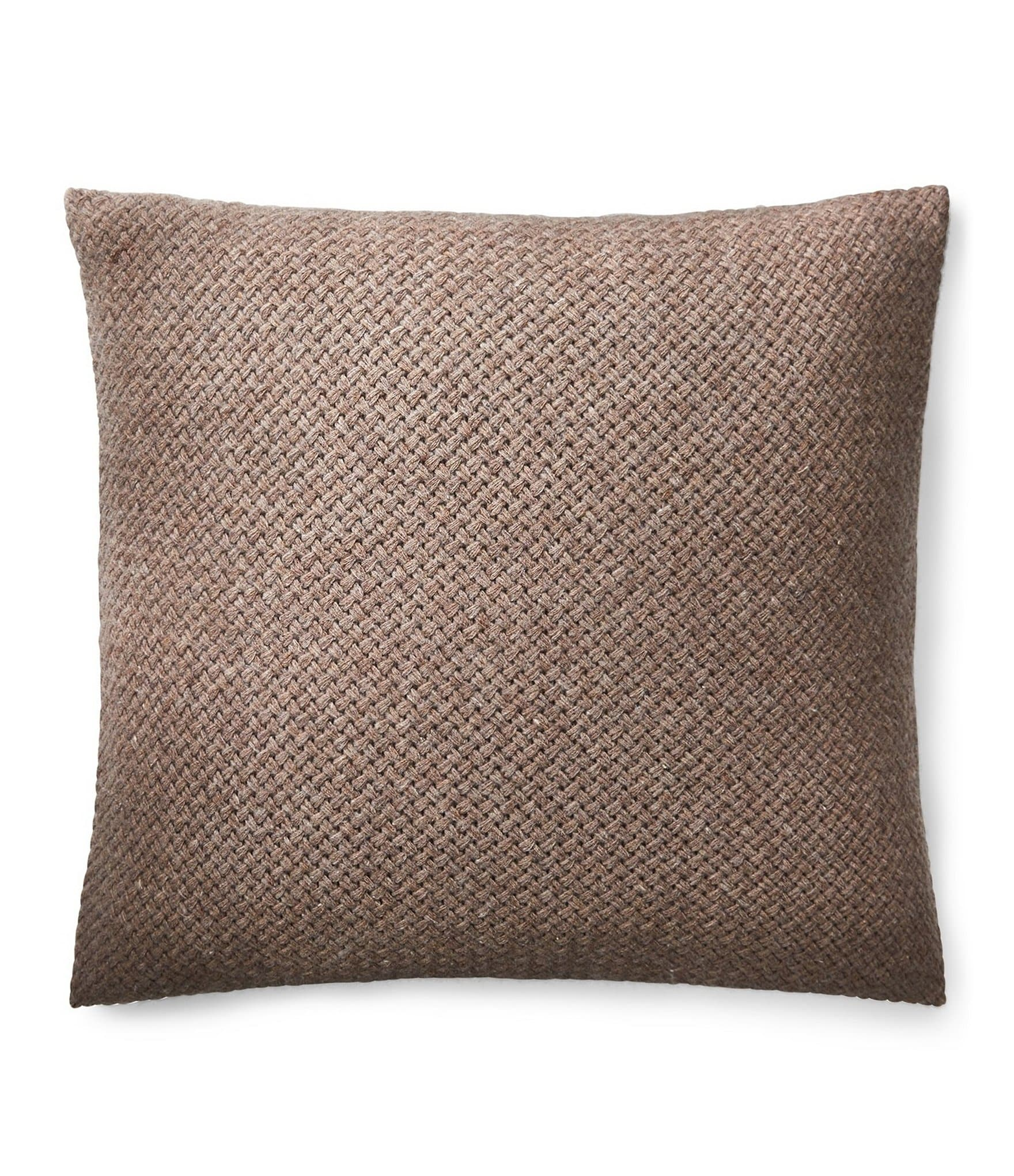 Ralph Lauren Modern Icons Collection Tylar Basketweave Lambswool Square Feather Pillow Dillards