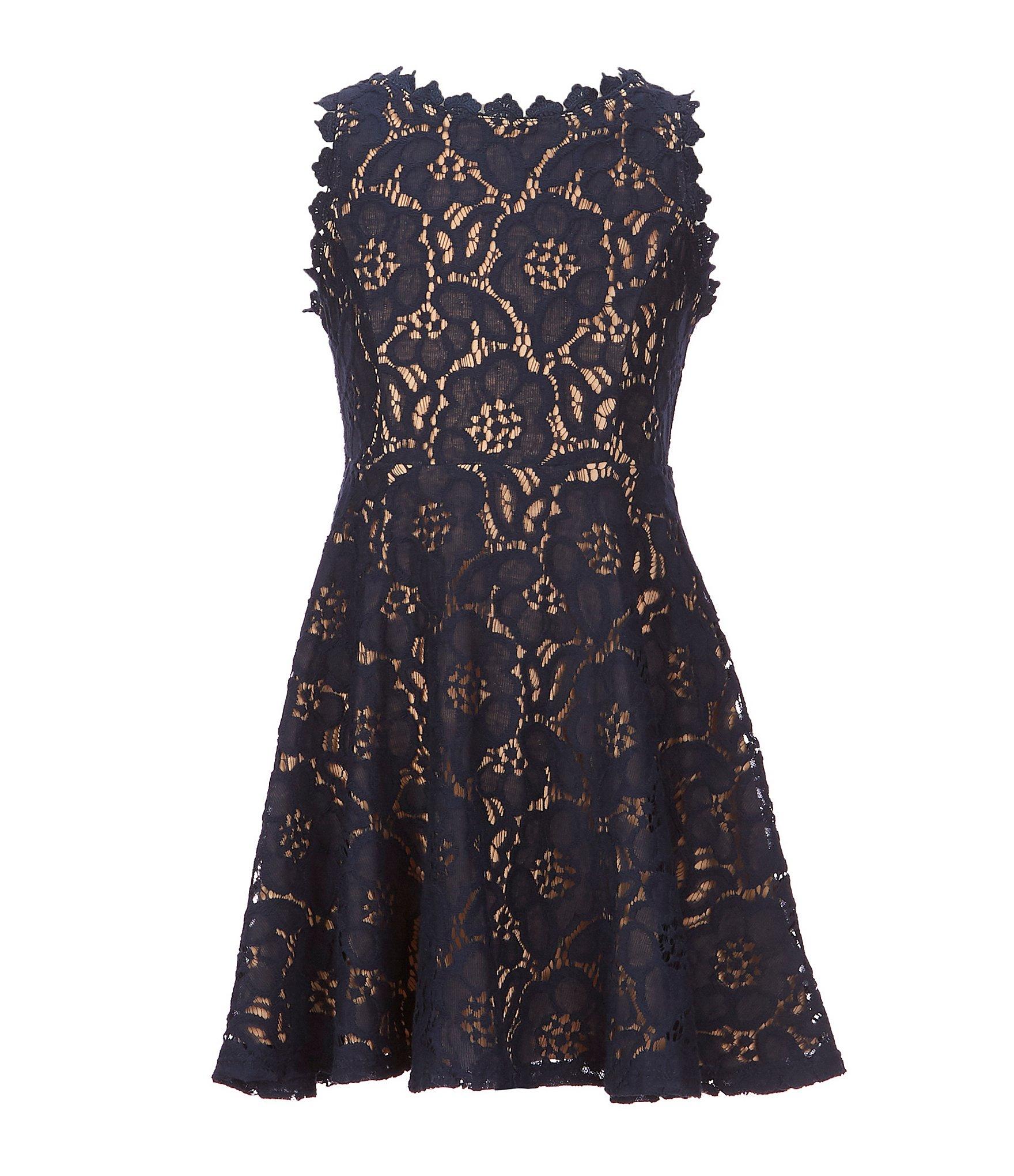 5e455770138 navy blue dress  Girls