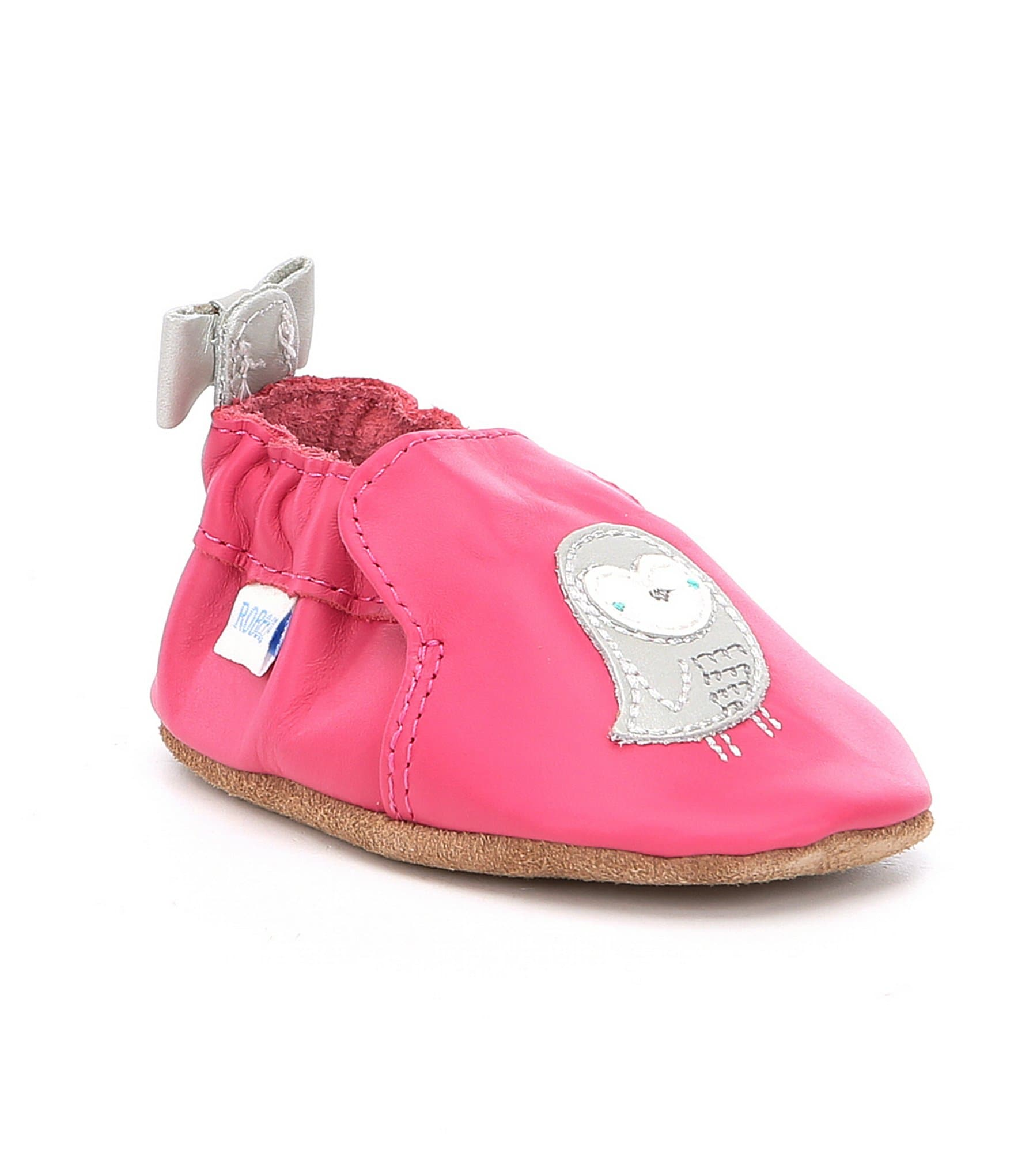 Robeez Baby Girls Newborn 24 Months Bird Bow Shoes