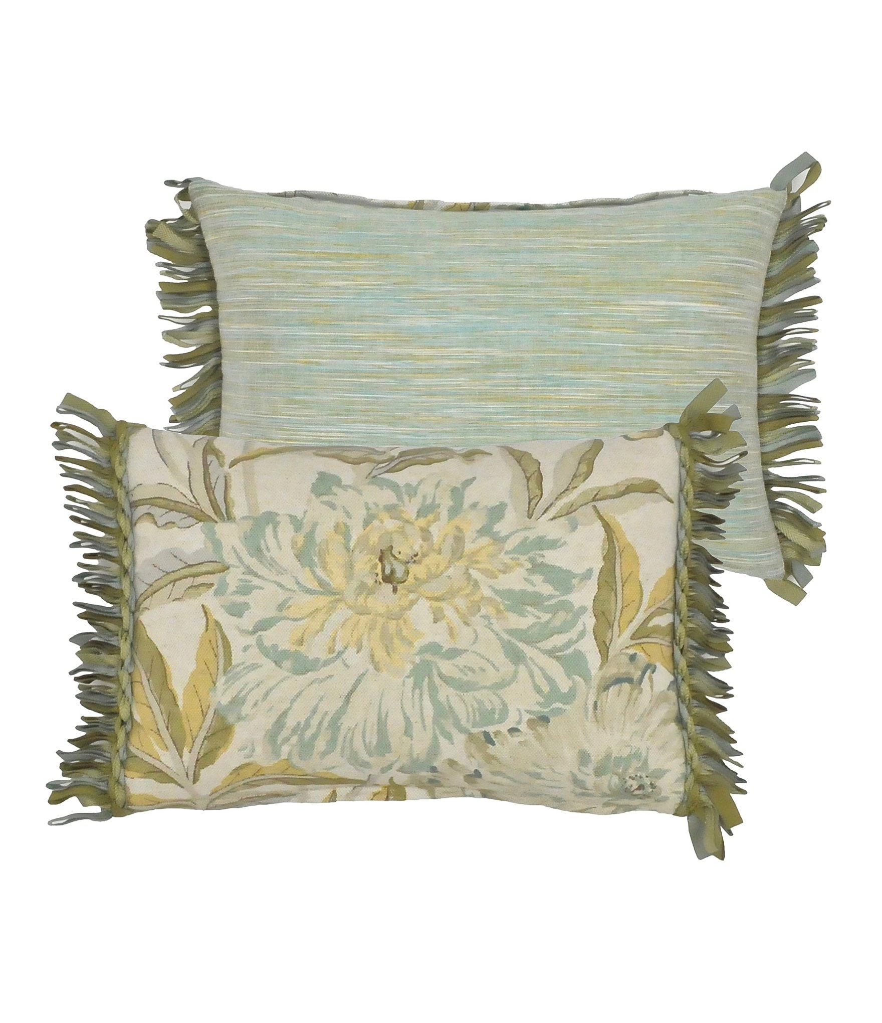 Rose Tree Antibes Fringed Floral Breakfast Pillow Dillards