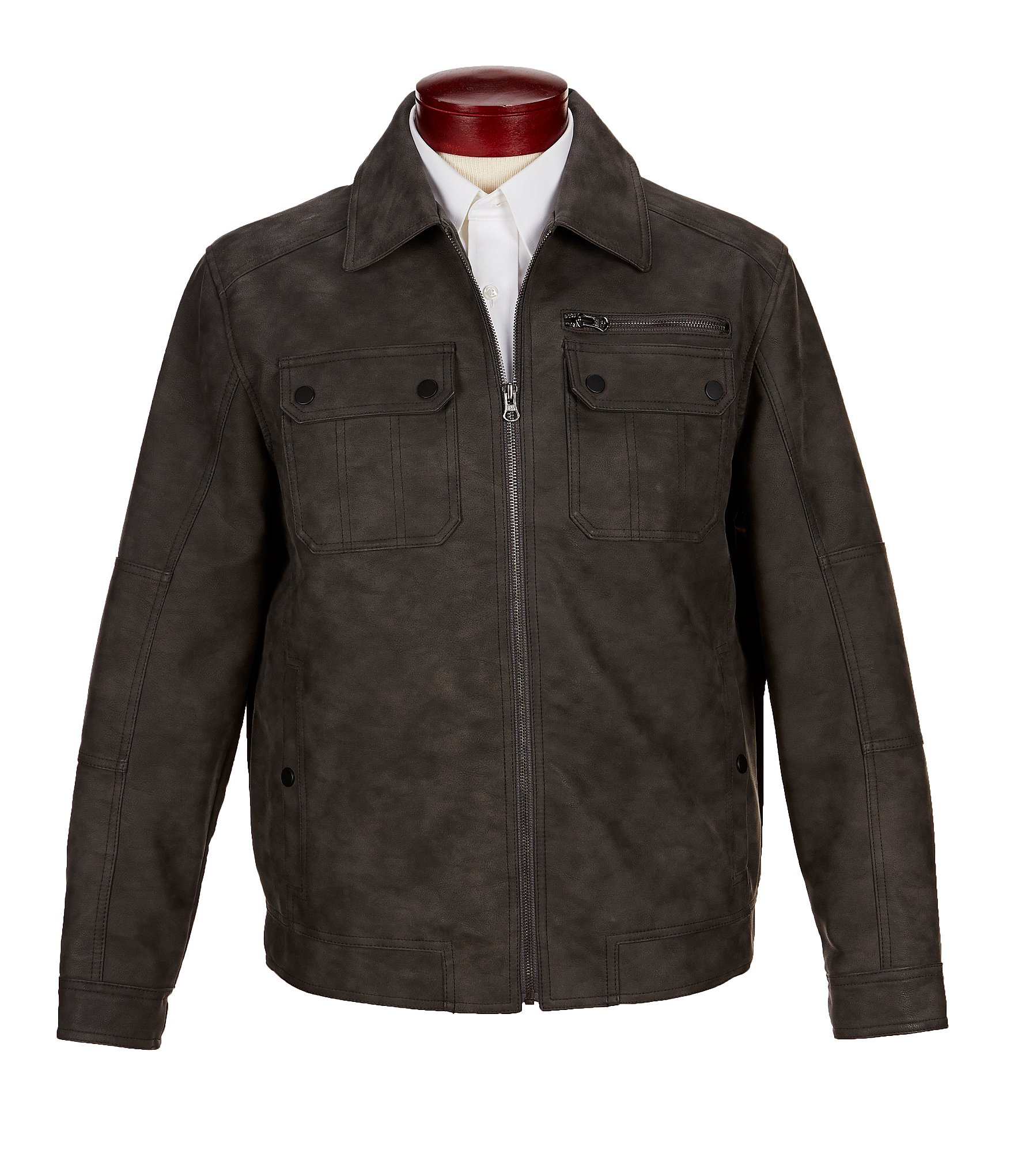 Dillards mens leather jackets