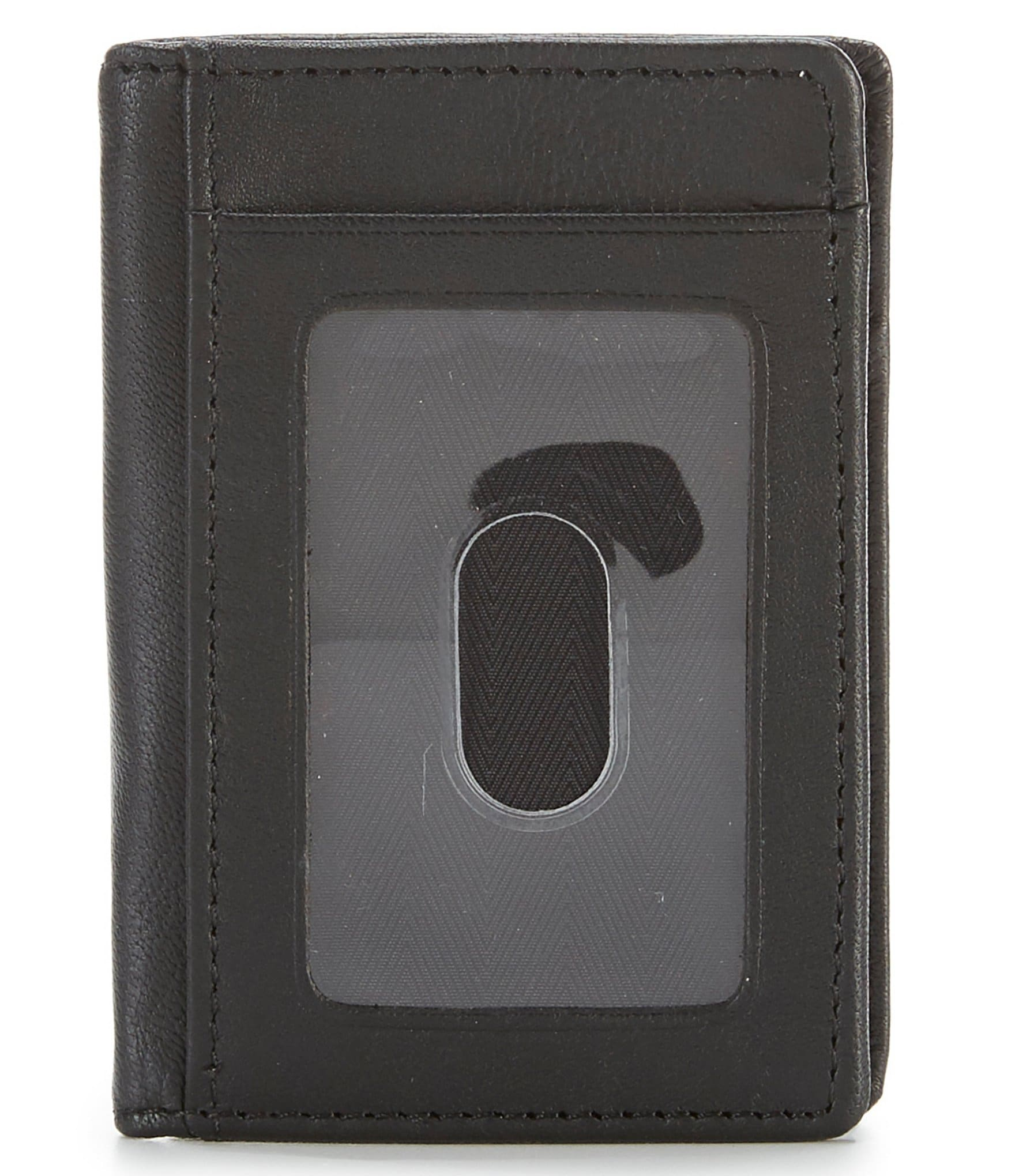 NEW MENS ROUNDTREE /& YOURKE LEATHER MAGNETIC MONEY CLIP BLACK