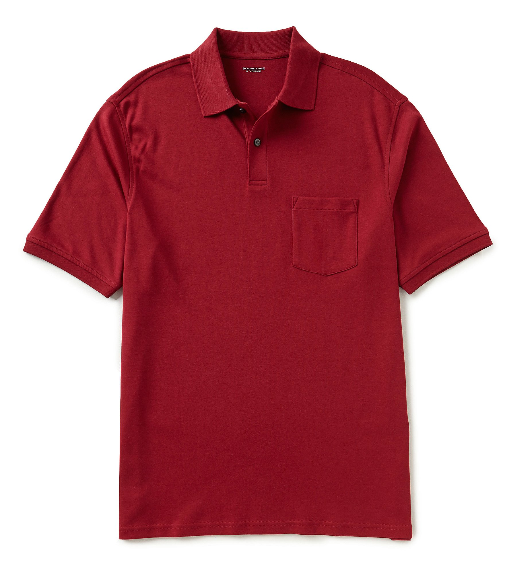 Roundtree yorke big tall silky finish solid polo shirt for Big and tall polo shirts with pockets