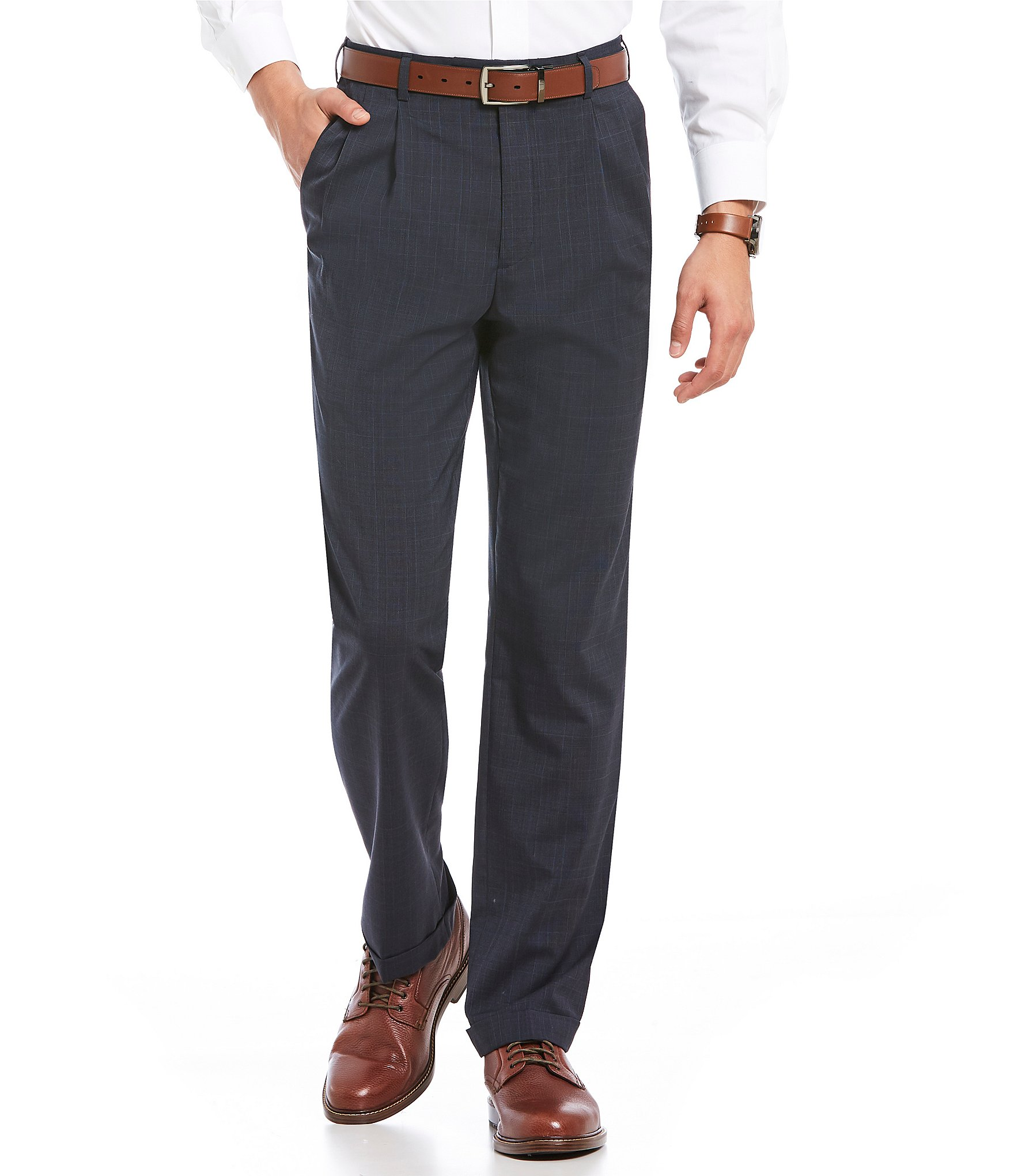 Roundtree And Yorke Ultimate Comfort Classic Fit Pleated