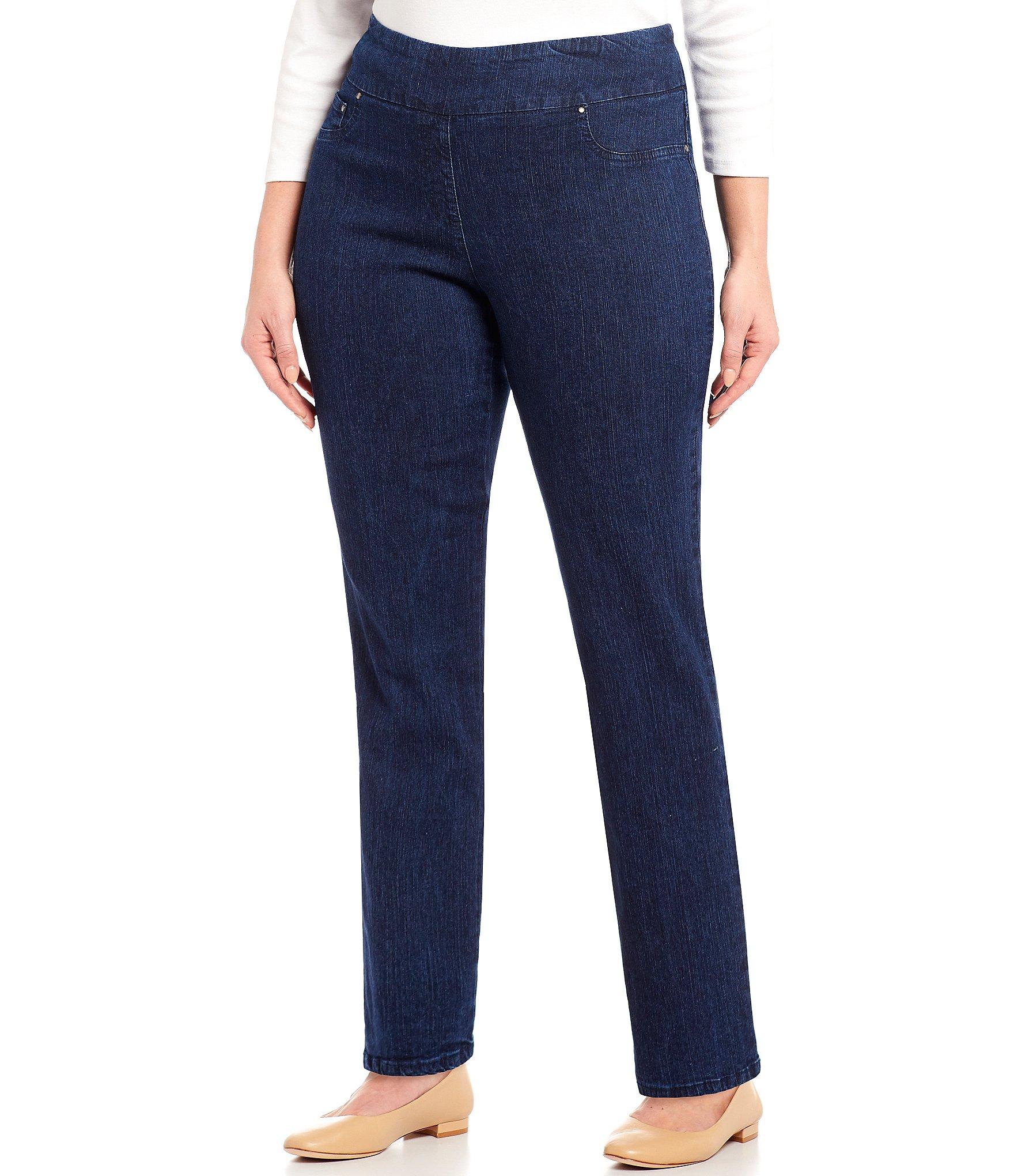 7971154b60c Blue Plus-Size Straight-Leg Jeans