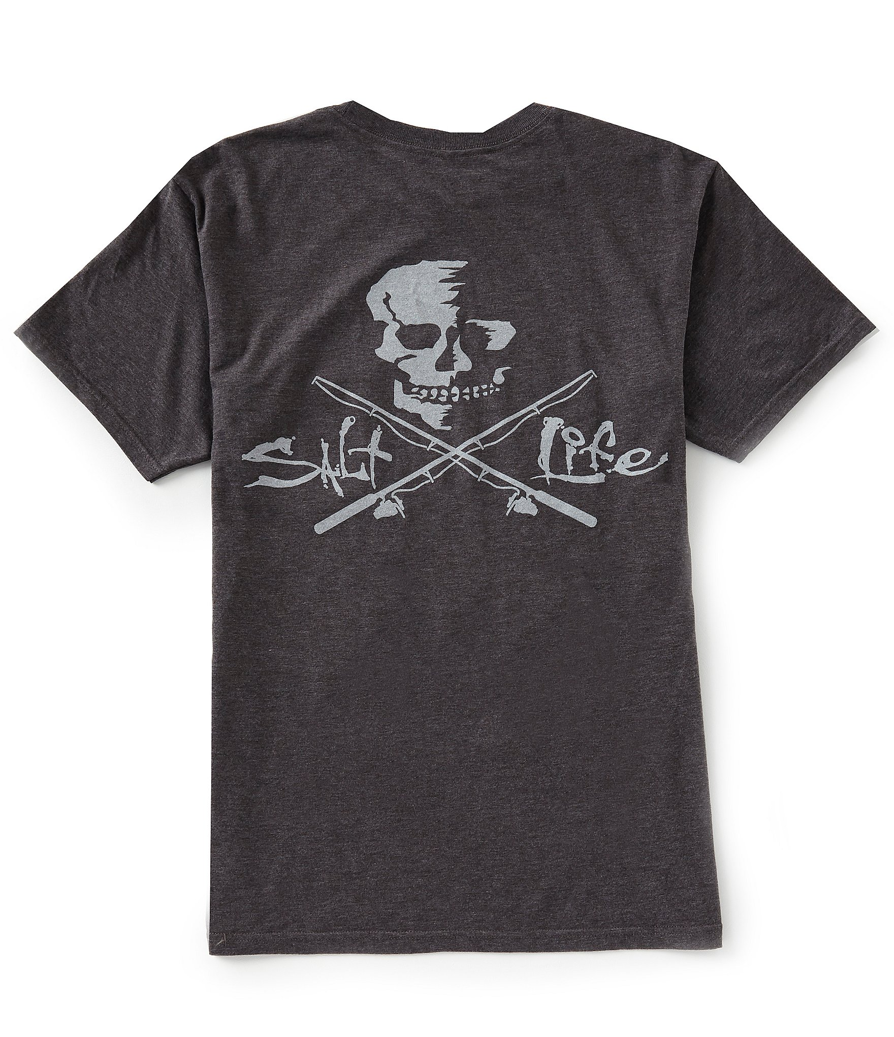 ce0088b7943e Salt Life Skull And Poles Short-Sleeve Graphic Pocket Tee | Dillard's