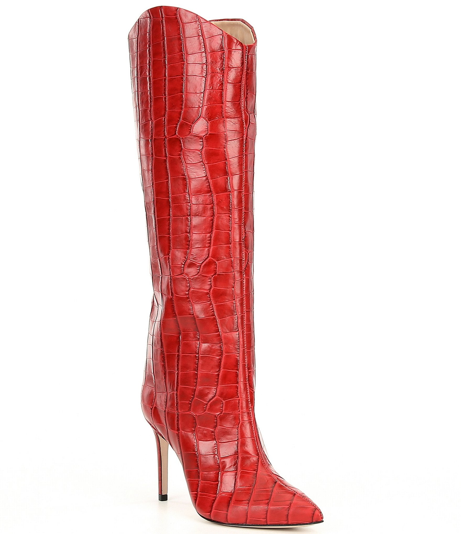 womens red dress boots