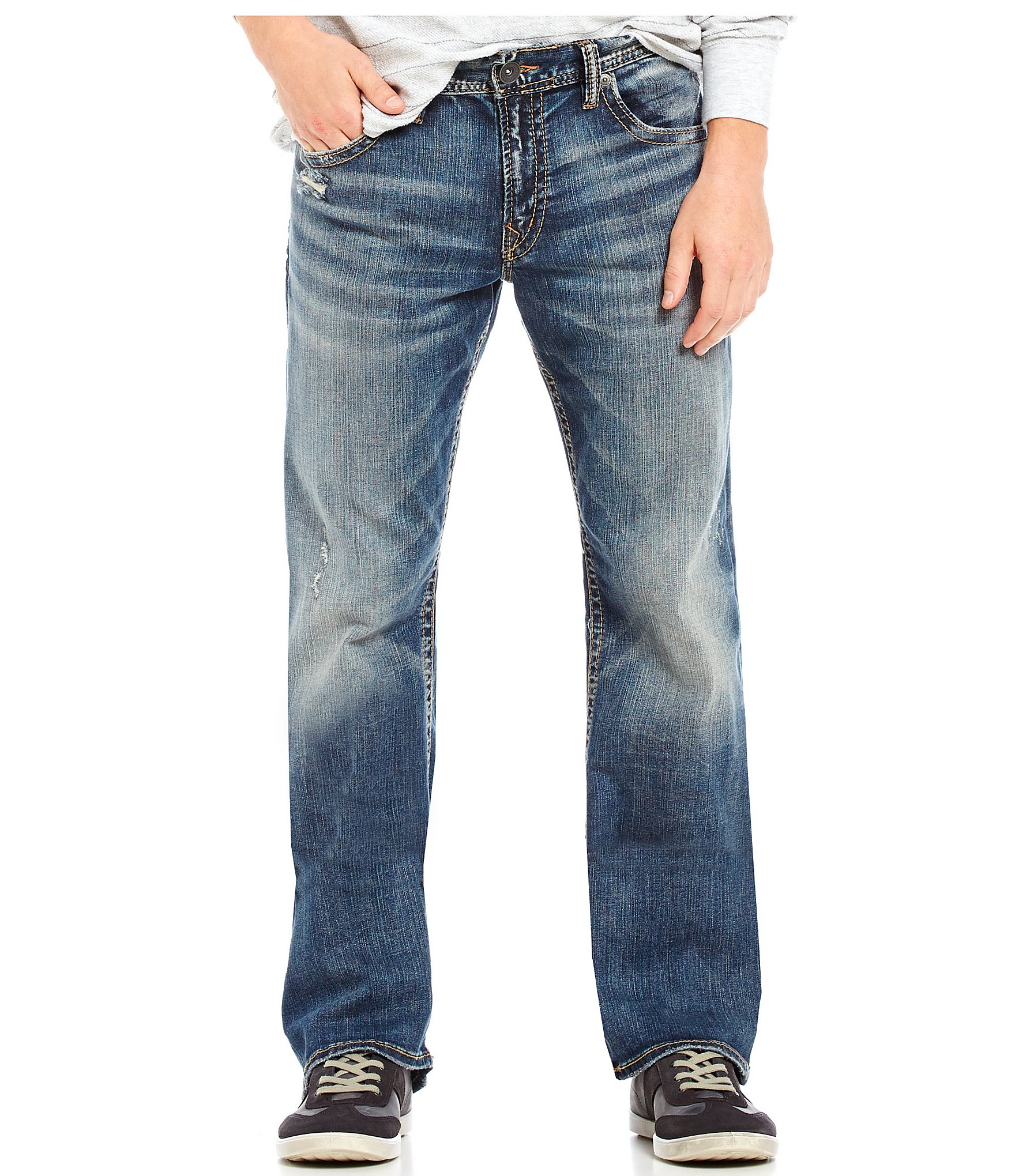 Silver Jeans Co. Zac Relaxed-Fit Straight-Leg Denim Jeans | Dillards