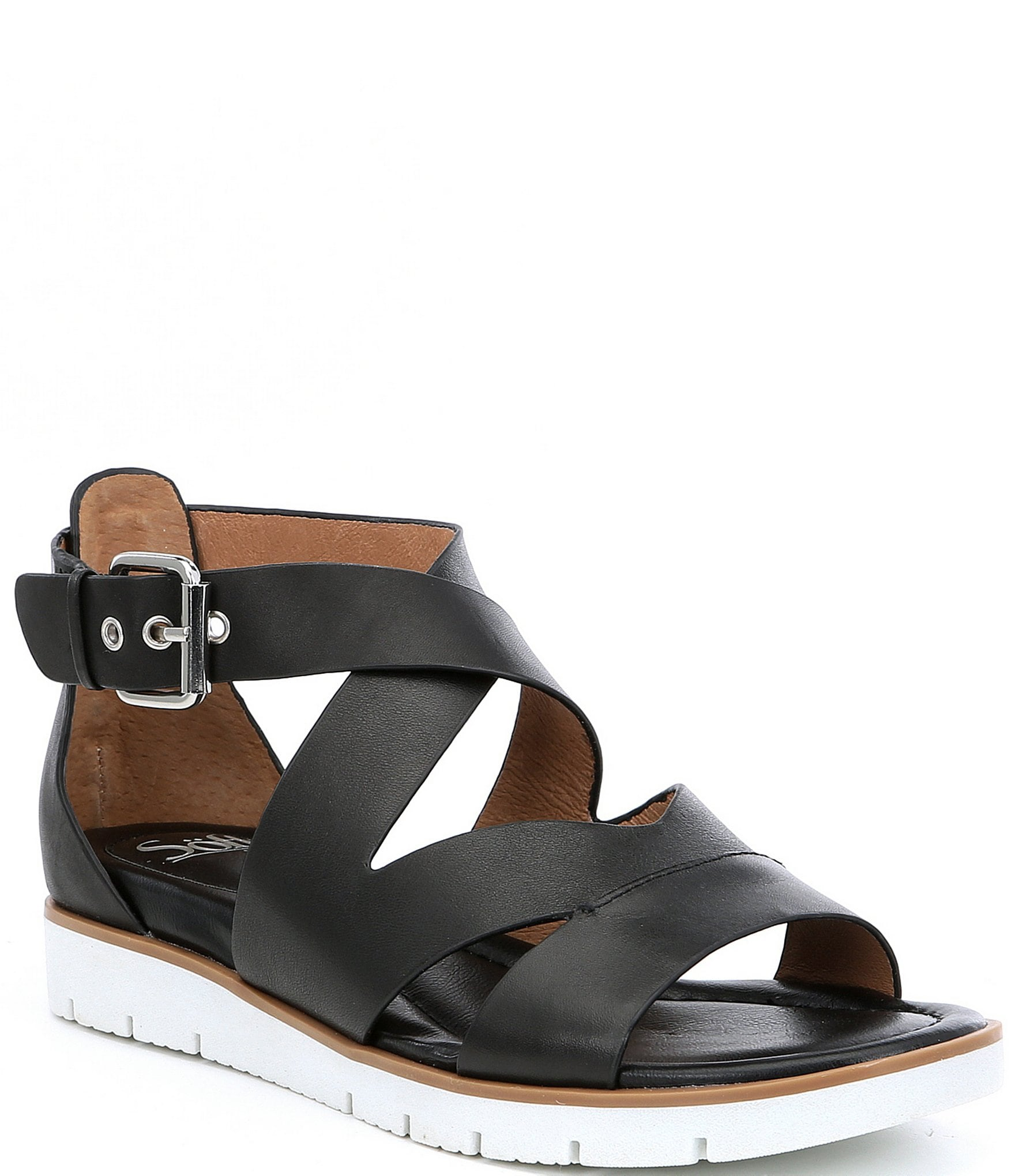 9f6fc692e Sofft Mirabelle Leather Criss Cross Sandals