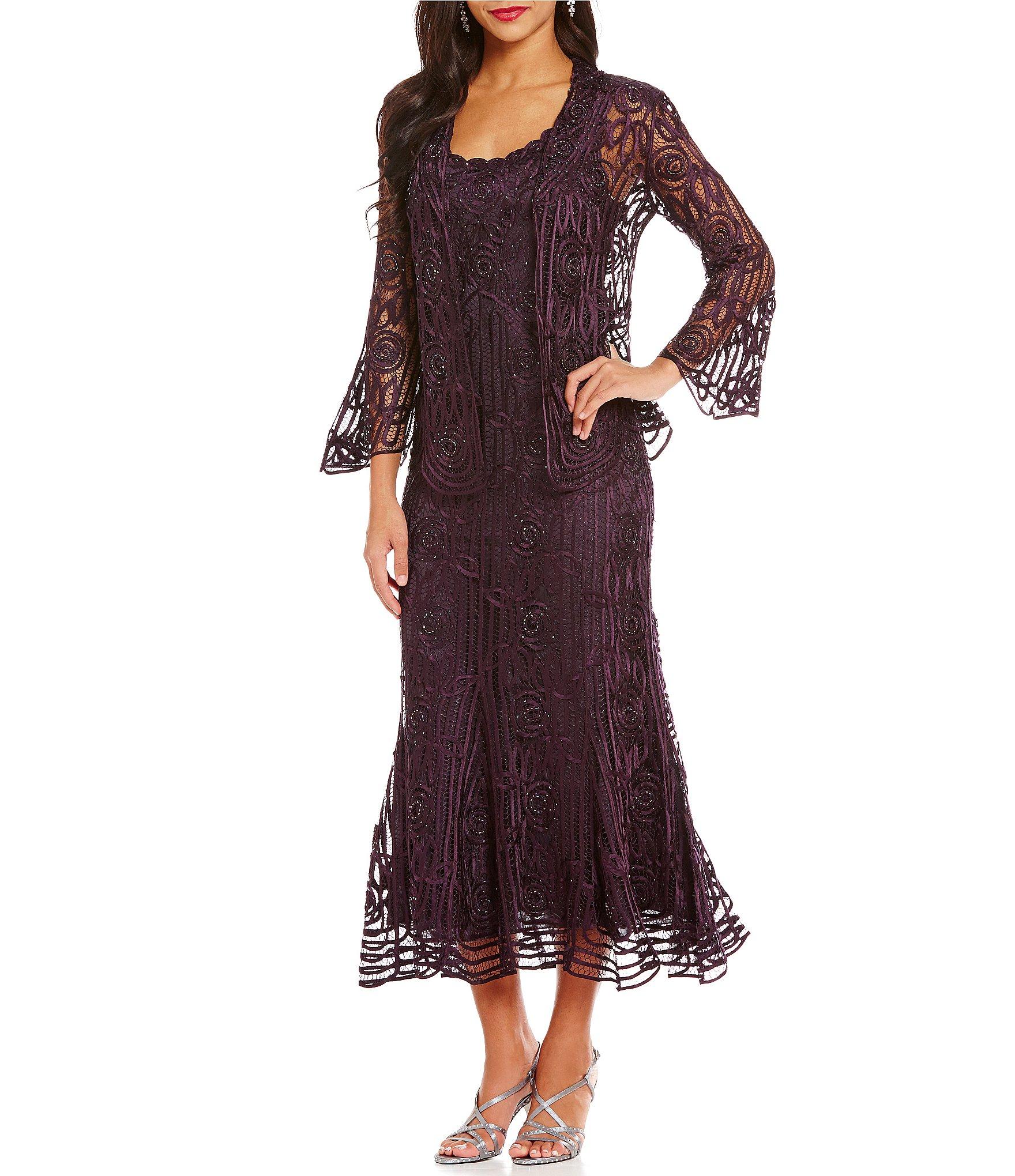 Dillard S Wedding Registry: Soulmates Silk Lace Jacket Dress