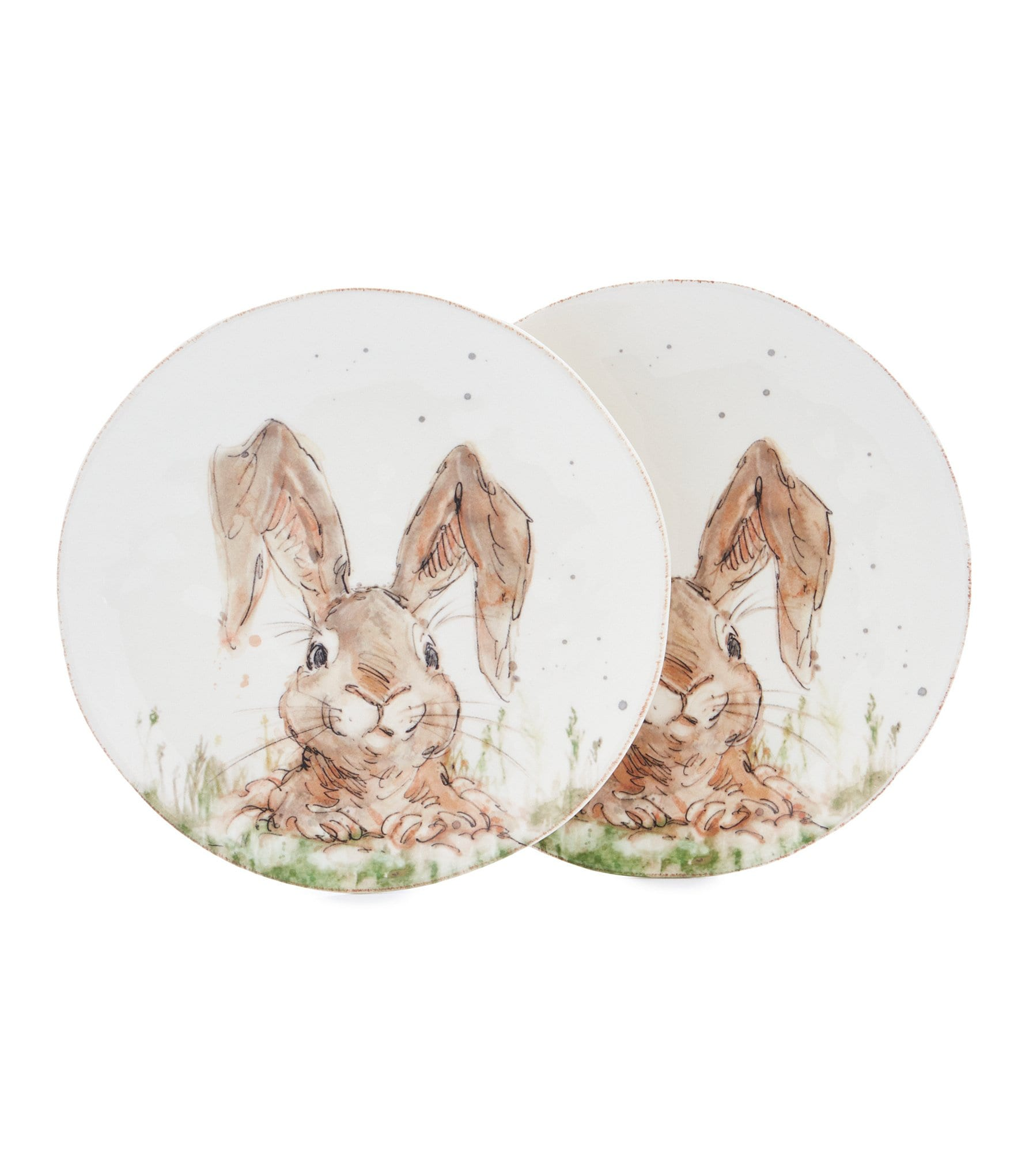 Southern living easter digger bunny salad plates set of 2 for Southern living login