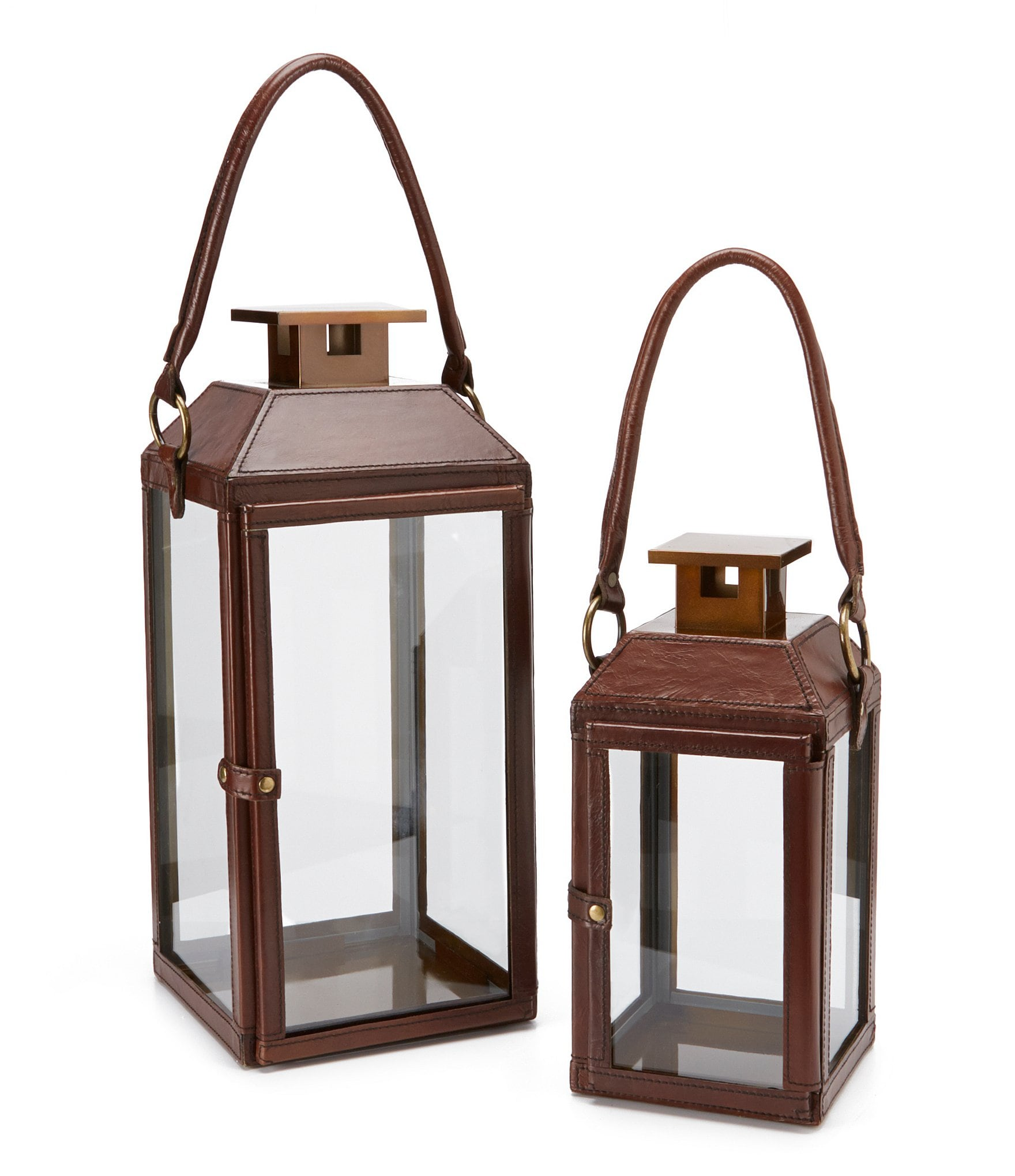 Southern Living Harvest Collection Leather Lantern