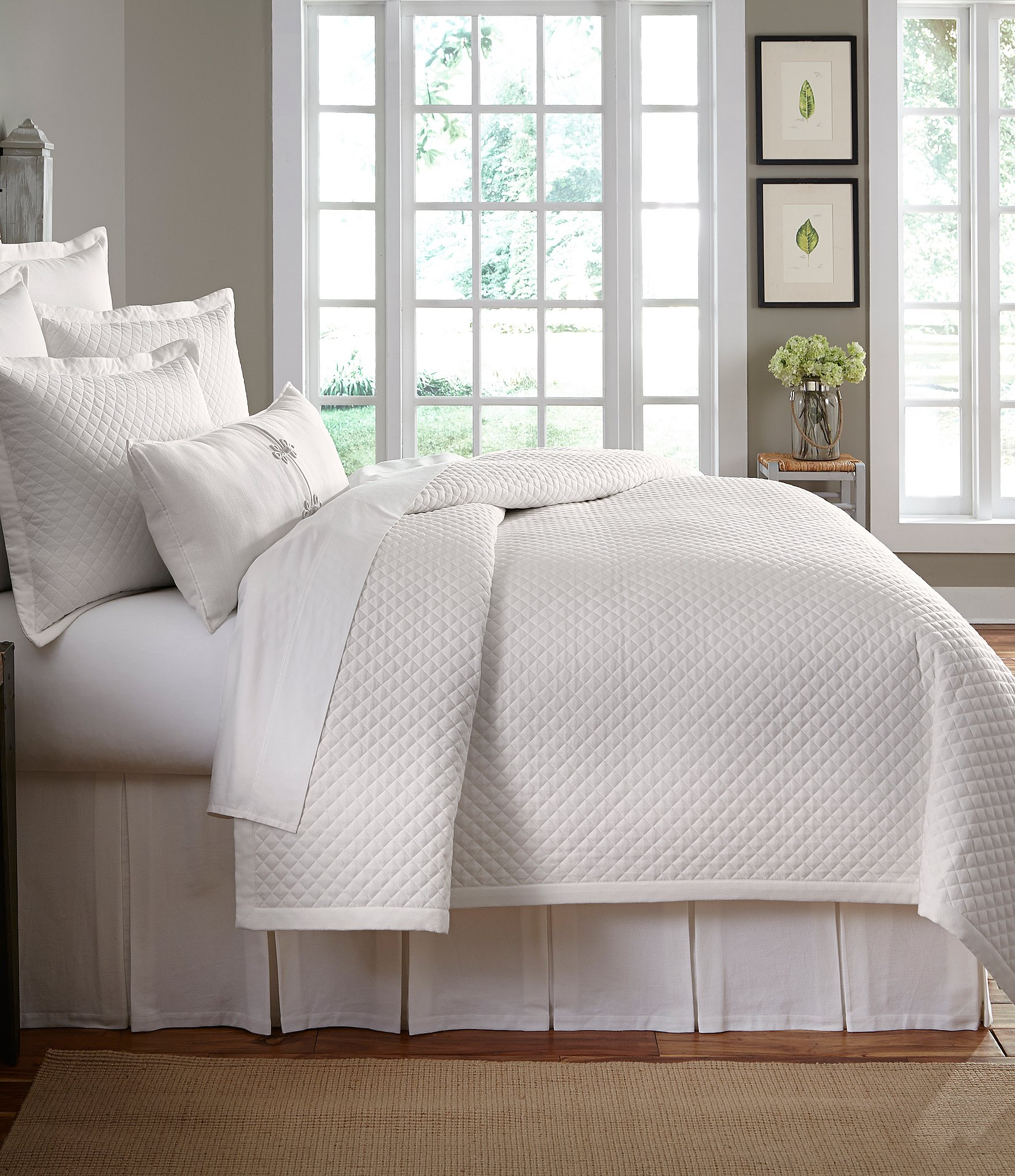 Southern Living Heirloom Quilted Cotton Piqu 233 Coverlet