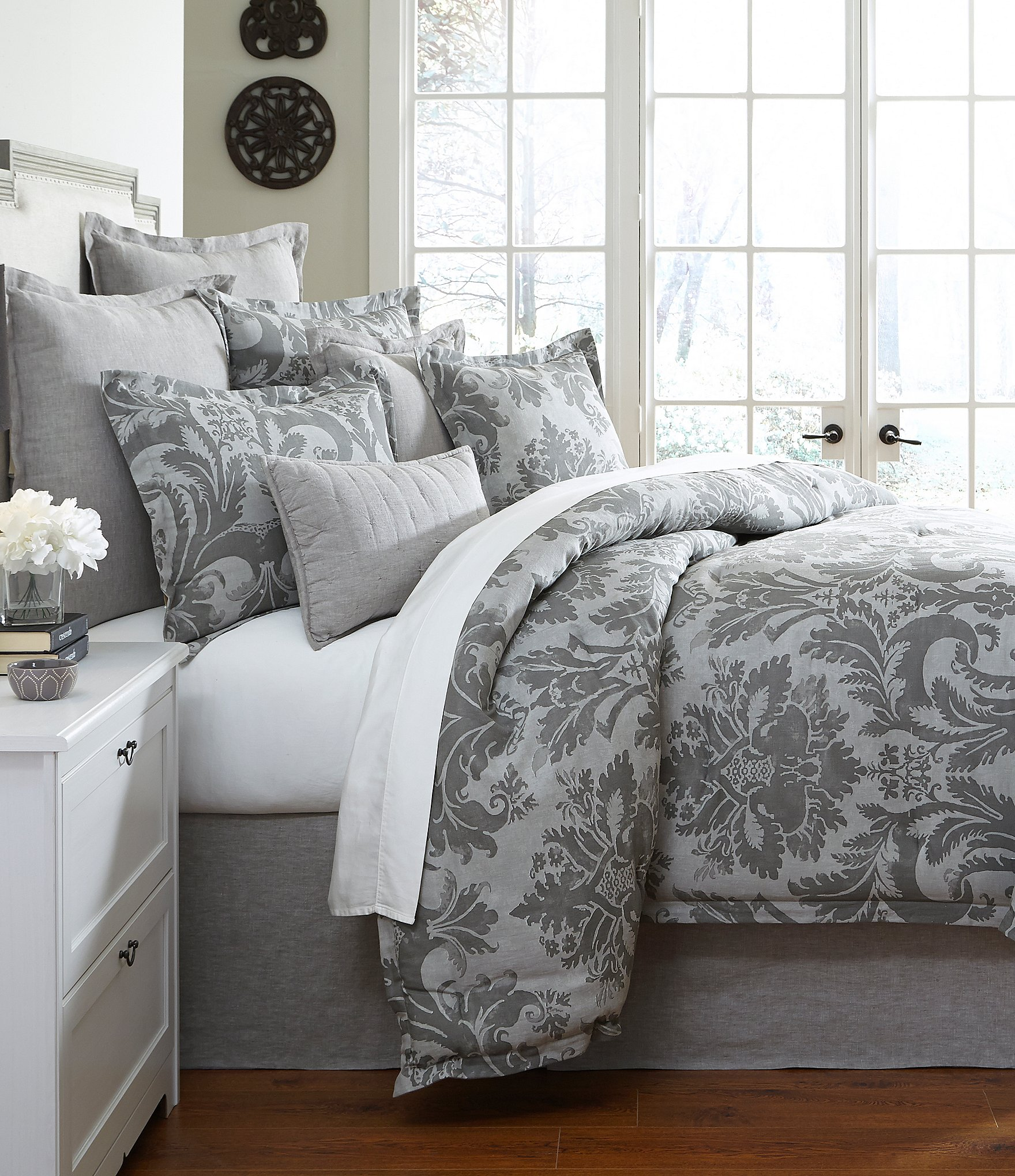 Southern Living Bedding : Southern Living Marquis Floral Medallion Cotton Twill ...