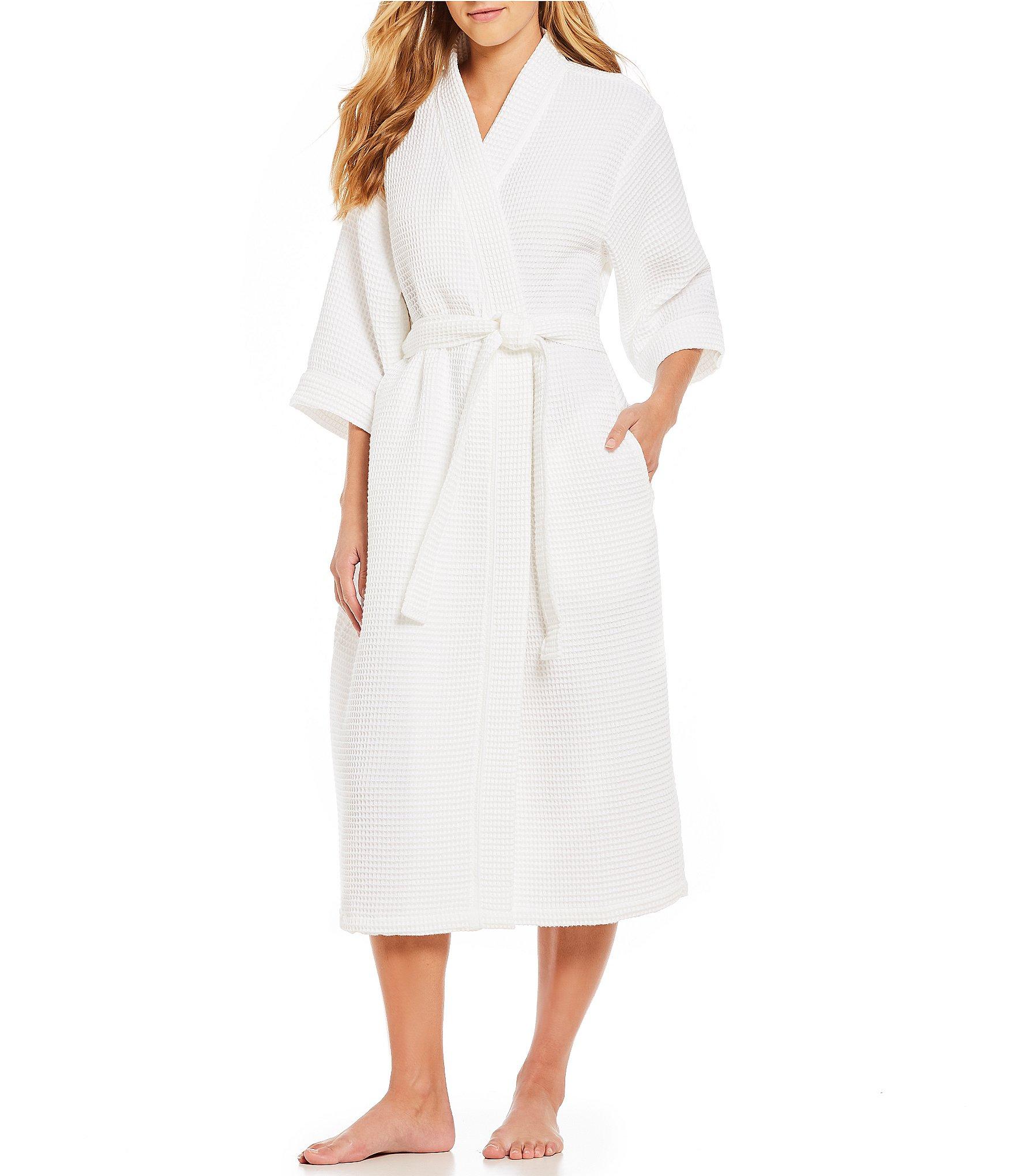 Essentials Womens Lightweight Waffle Mid-Length Robe