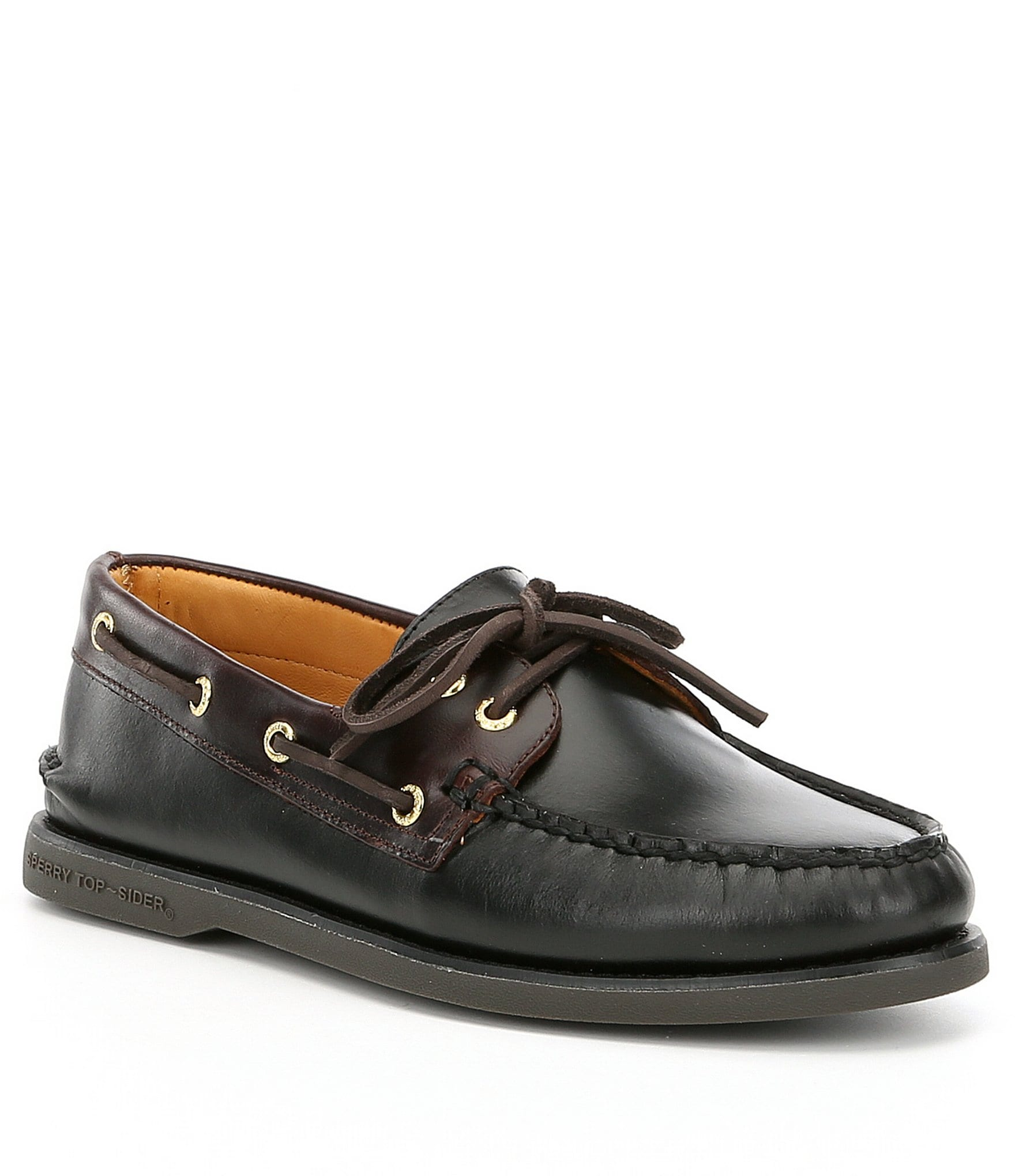Sperry Mens Black Boat Shoes