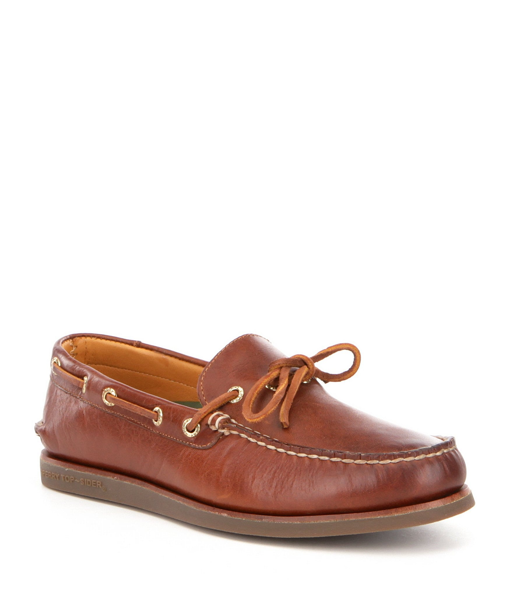Sperry Men S Gold Authentic Original  Eye Wedge Boat Shoe