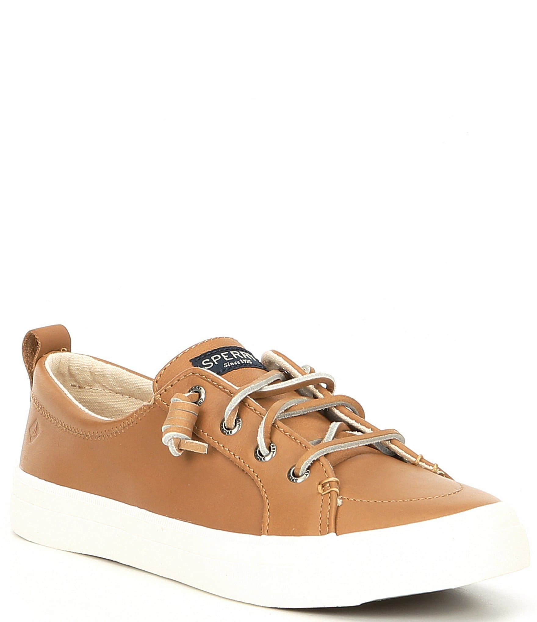 e1bffdc476a Sperry Women's Crest Vibe Leather Sneakers