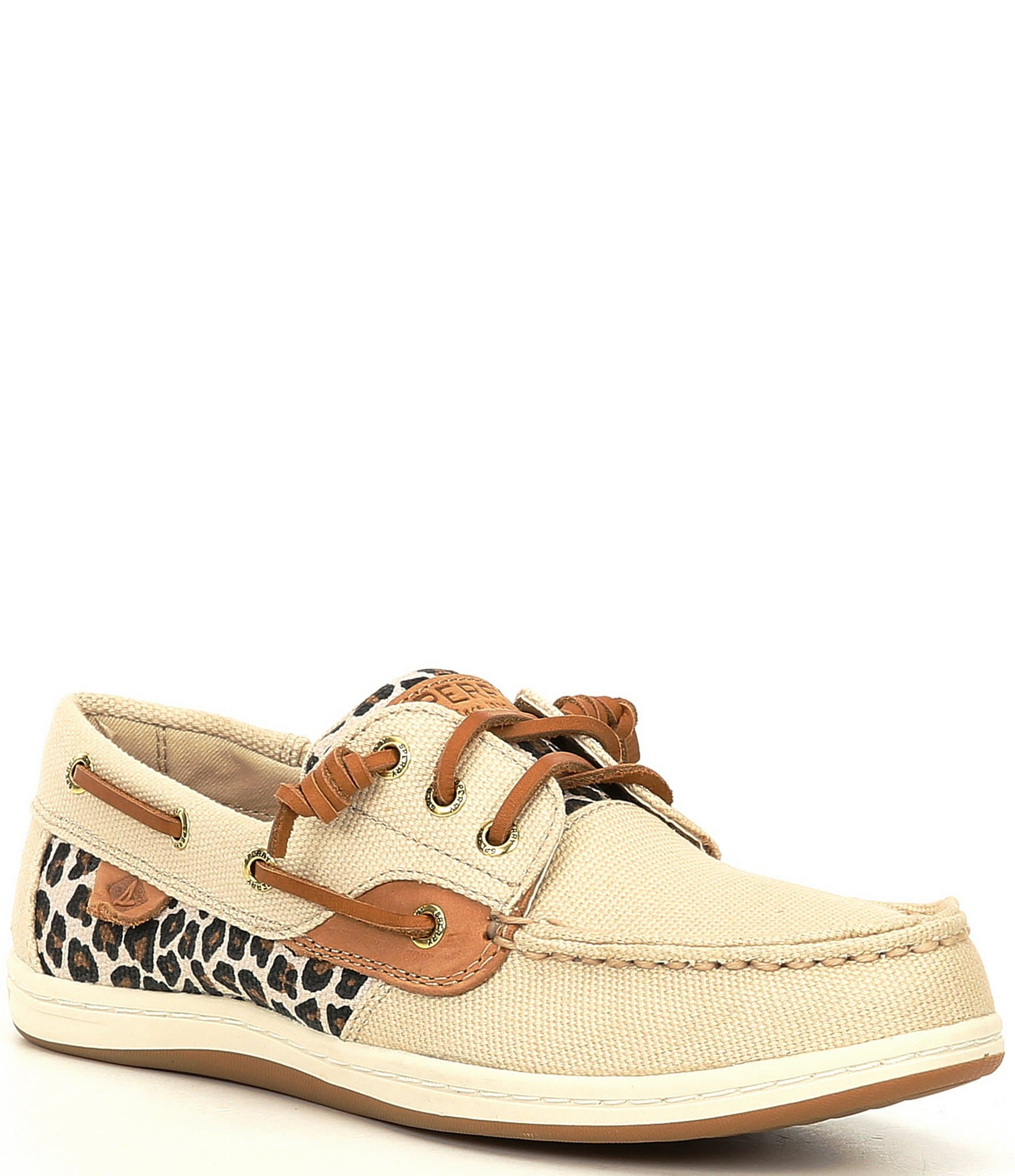 Songfish Leopard Print Boat Shoes
