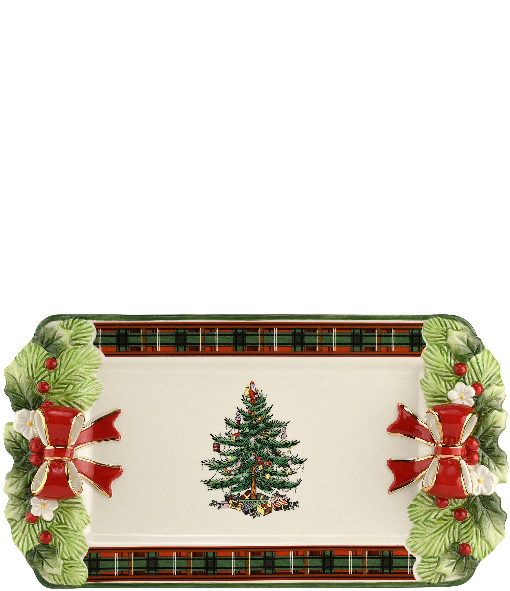 "Spode Christmas Tree China Sale: Spode Christmas Tree 2019 12"" Tartan Tray"