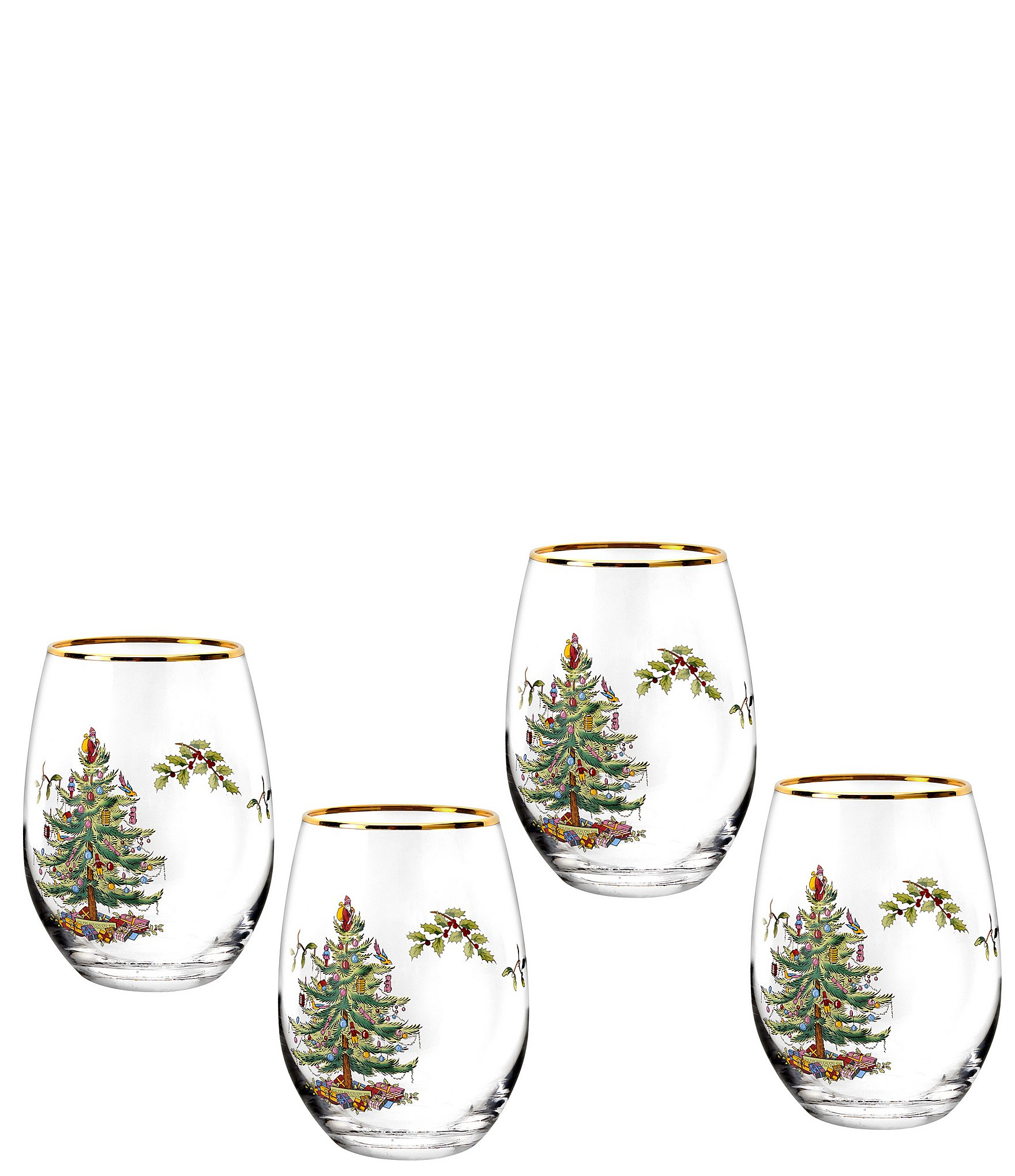 Spode Christmas Tree China Sale: Spode Christmas Tree 2019 Stemless Wine Glass