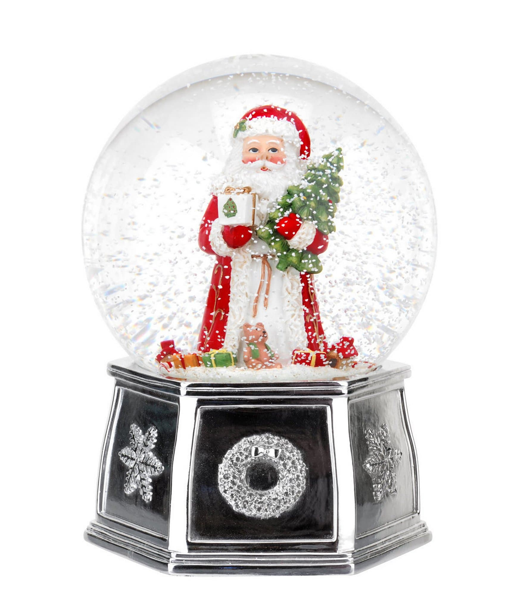 Circle Track Supply >> Spode Christmas Tree Santa Musical Snow Globe | Dillards
