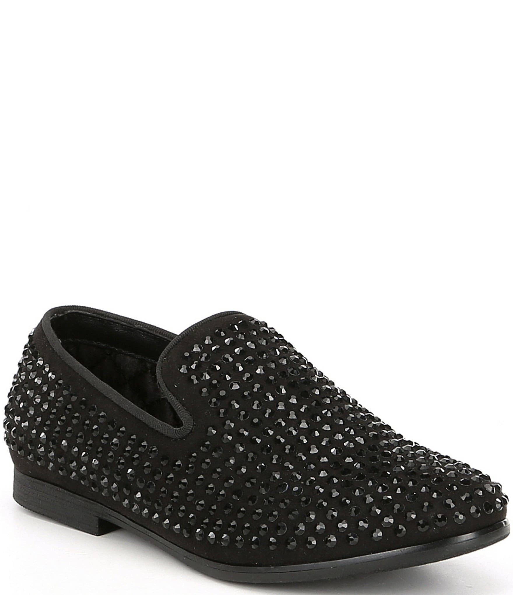 855ba53a264 Steve Madden Boy's B-Caviar Rhinestone Studded Slip On Loafers