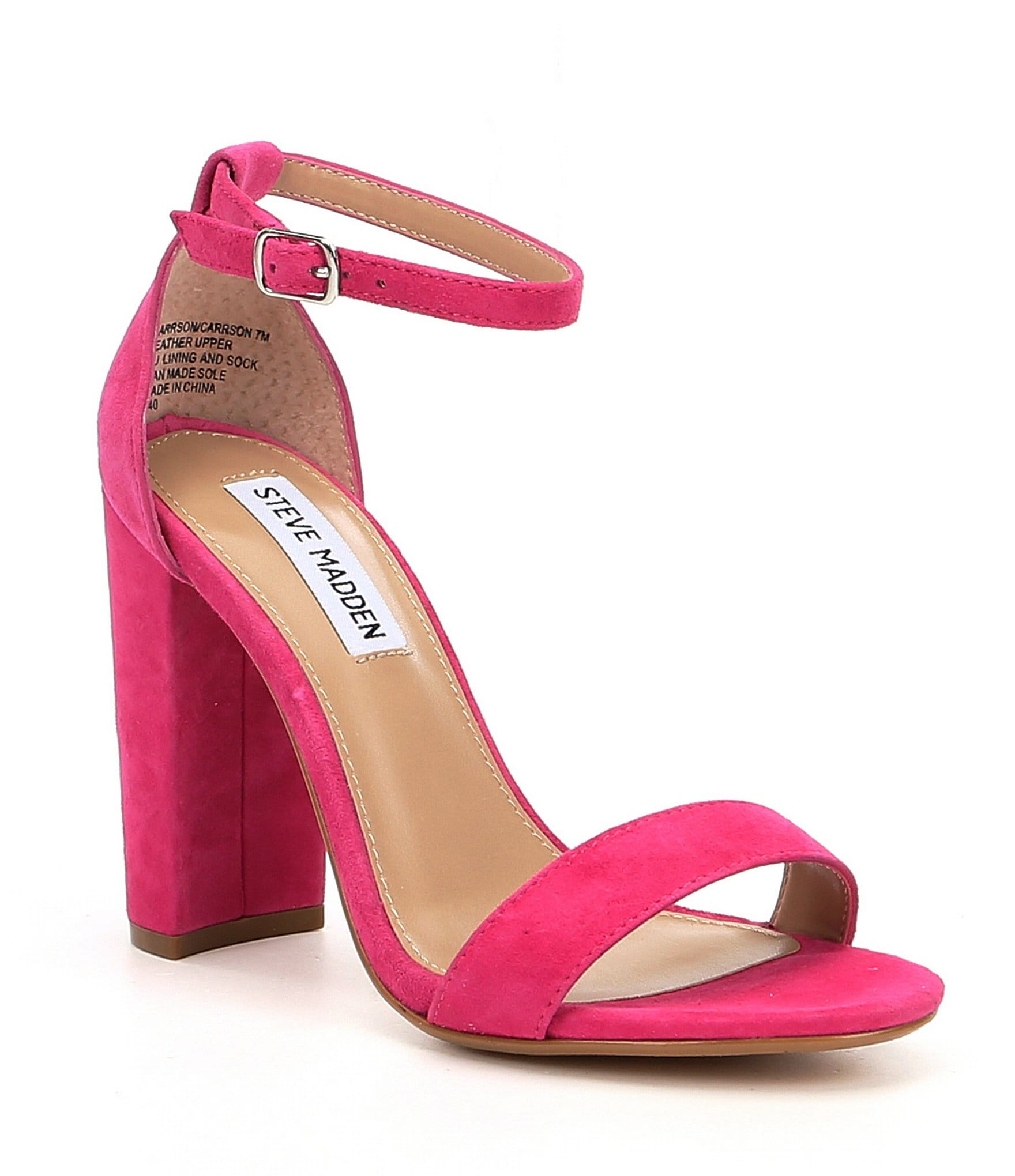 Hot Pink Block Heel Shoes