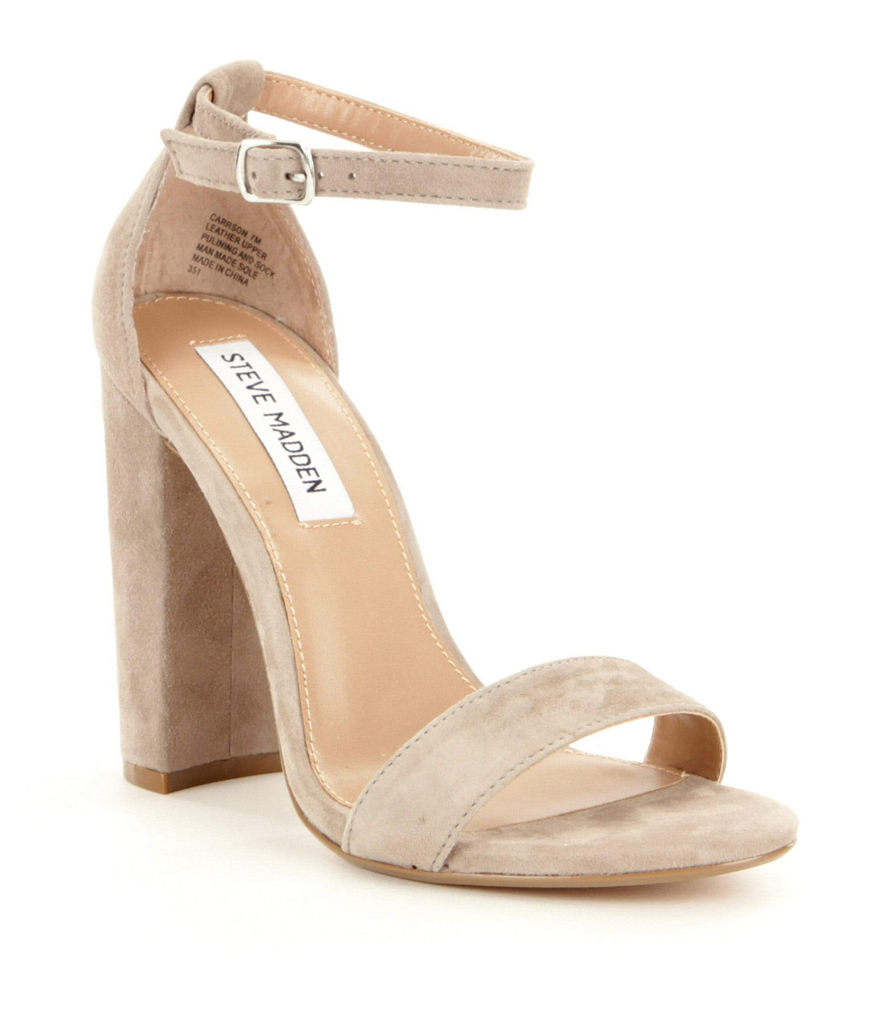 Steve Madden Carrson Suede Ankle Strap Block Heel Dress