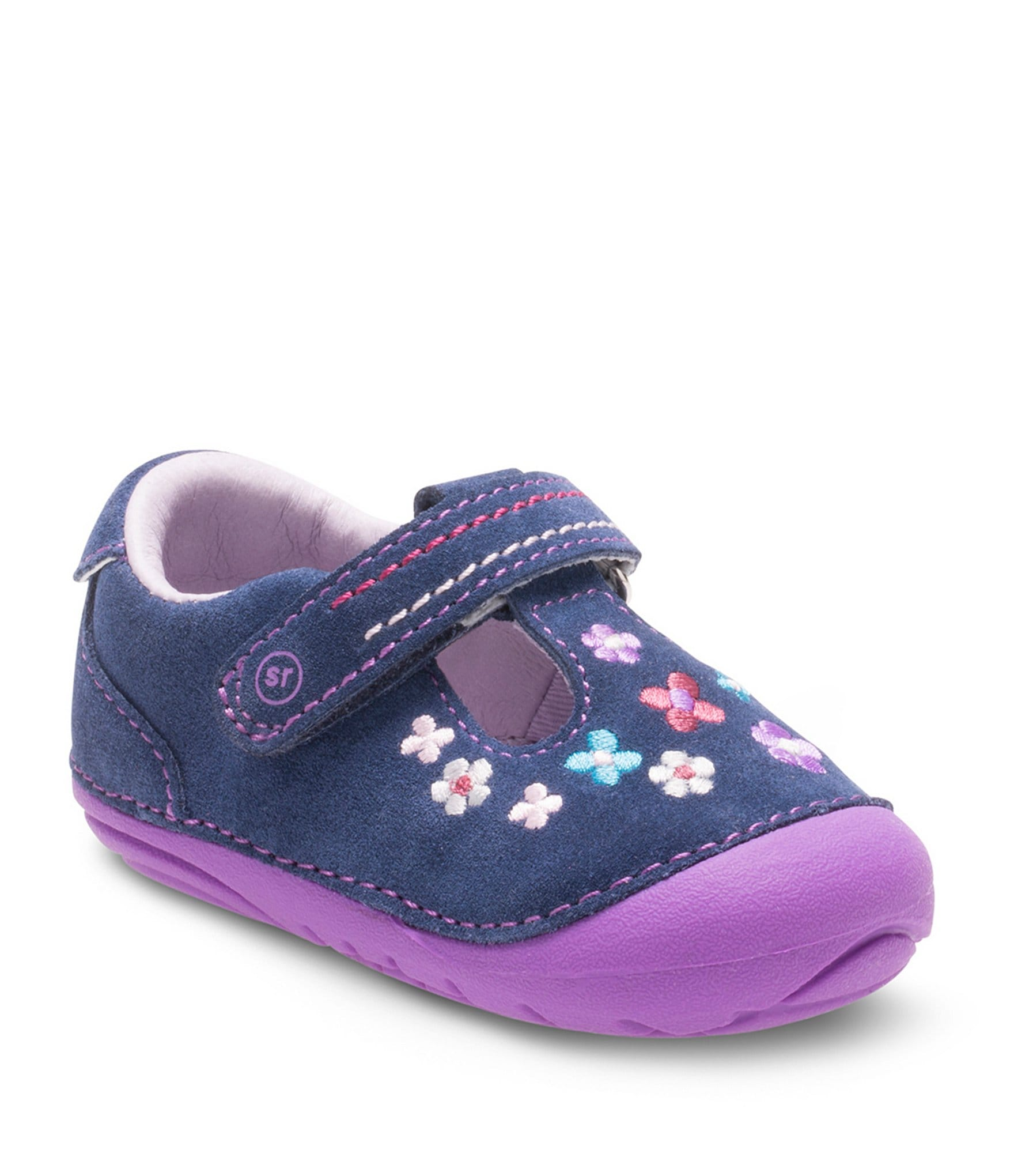 Stride Rite Girls Tonia T Strap Shoes