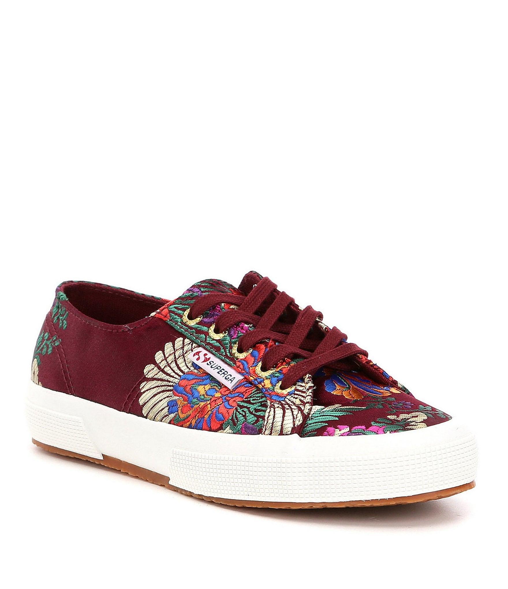 Superga 2750 Korelaw Mandarin Floral Embroidery Sneakers