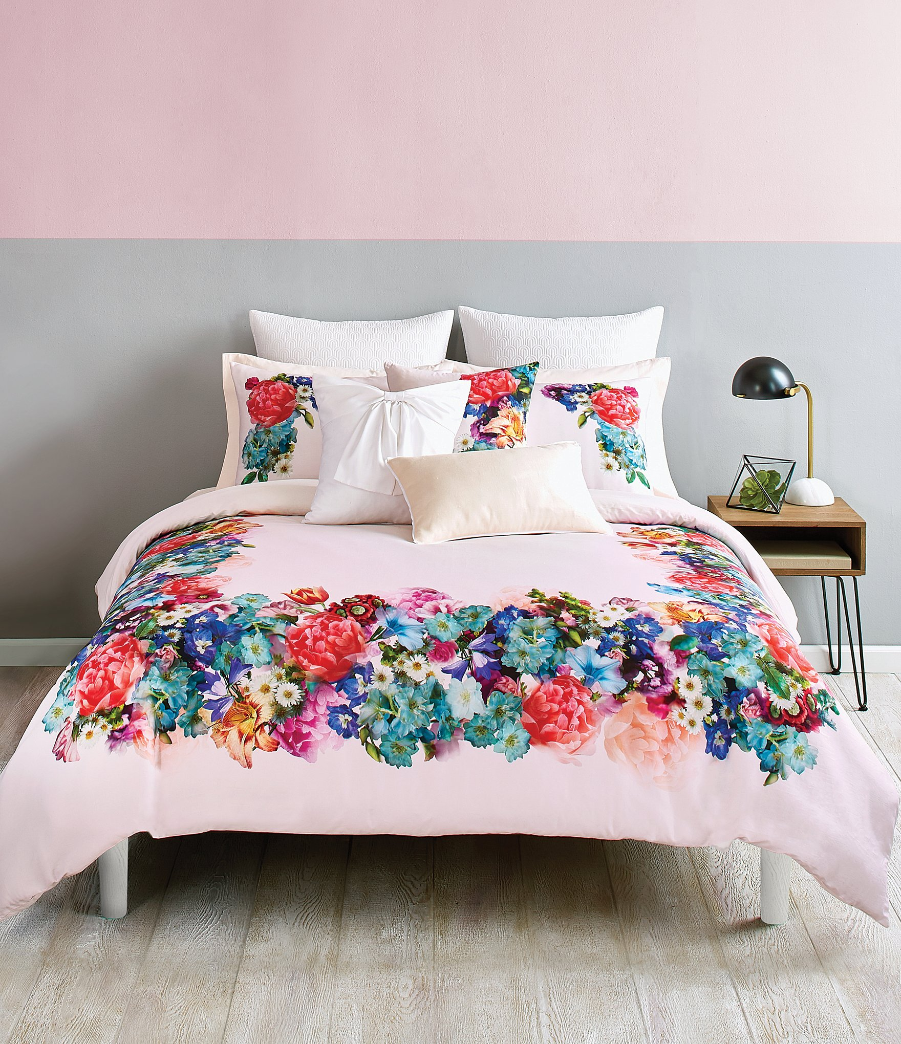 Ted Baker London Focus Bouquet Collection Floral Sateen forter