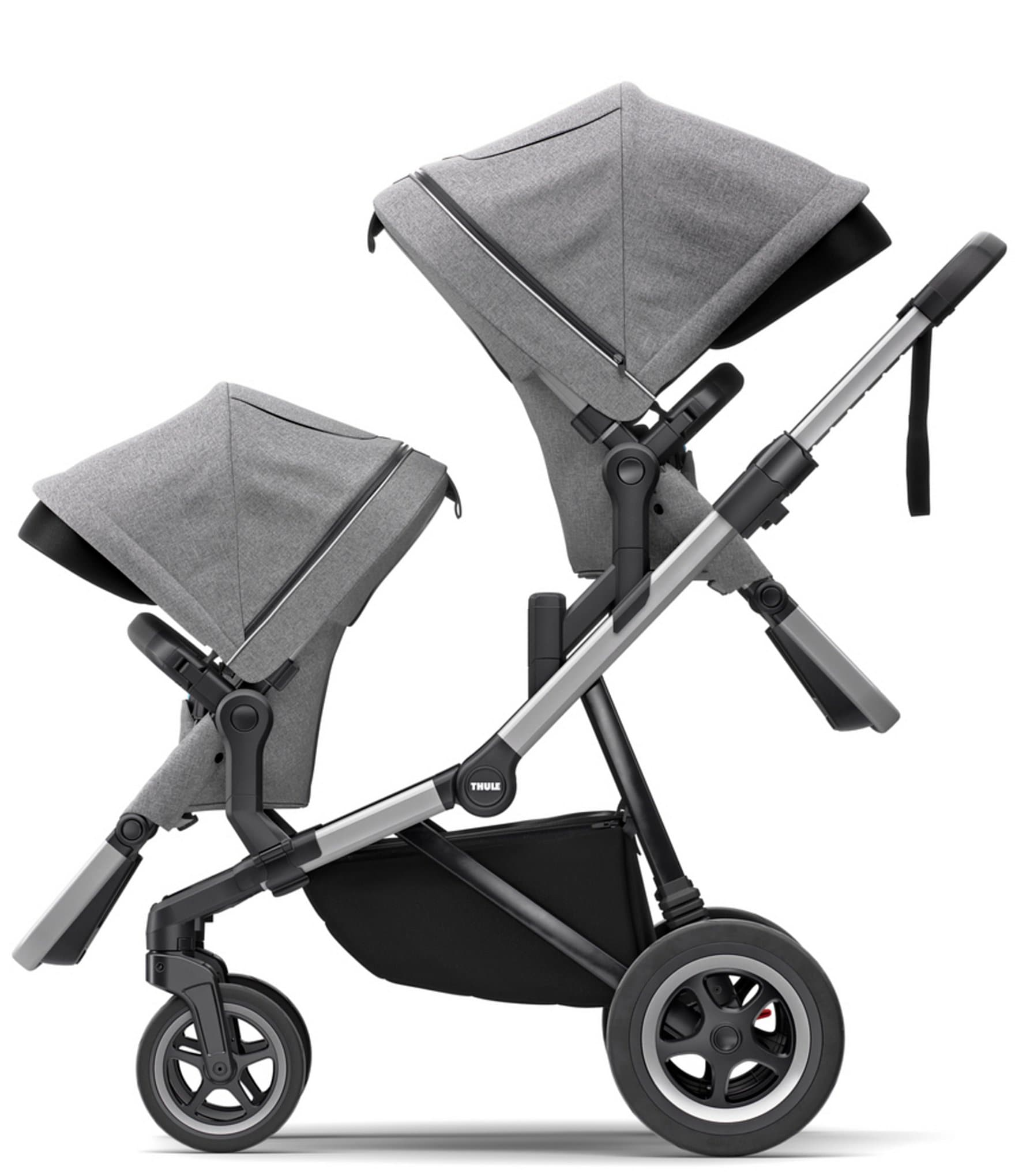 Thule Sleek City Stroller & Sleek Sibling Seat Double ...