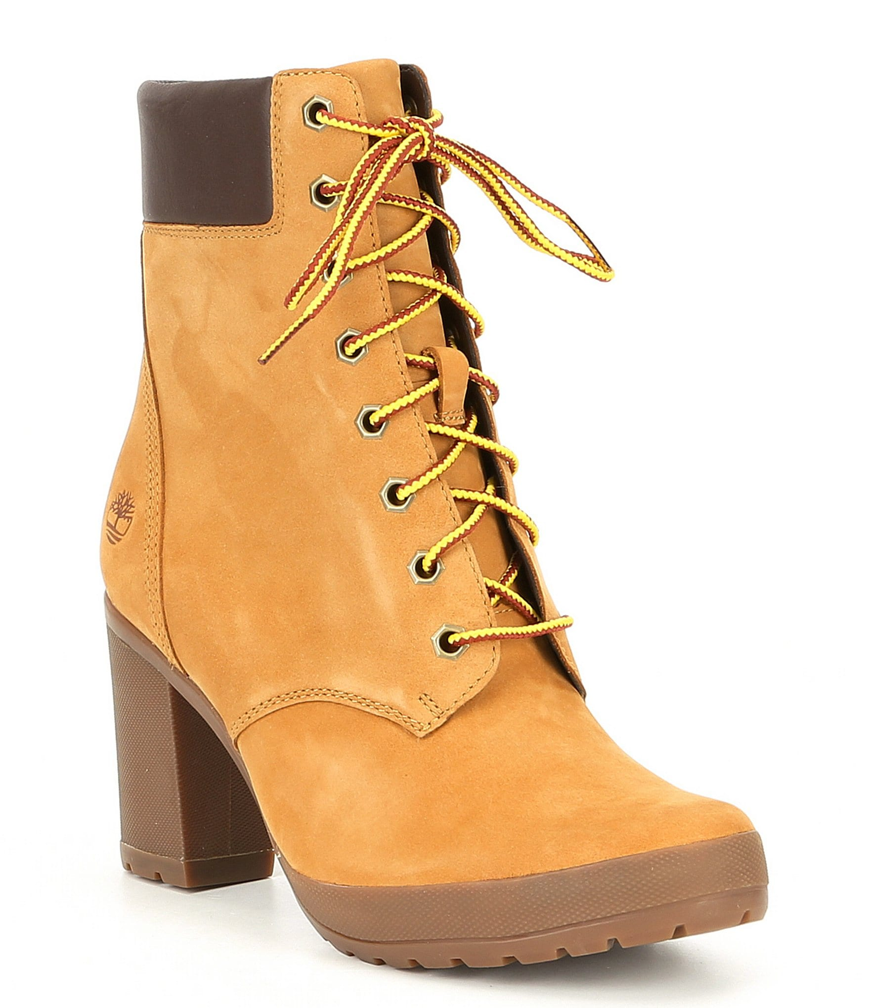 Timberland Camdale Leather Block Heel Field Hiker Boots | Dillard's