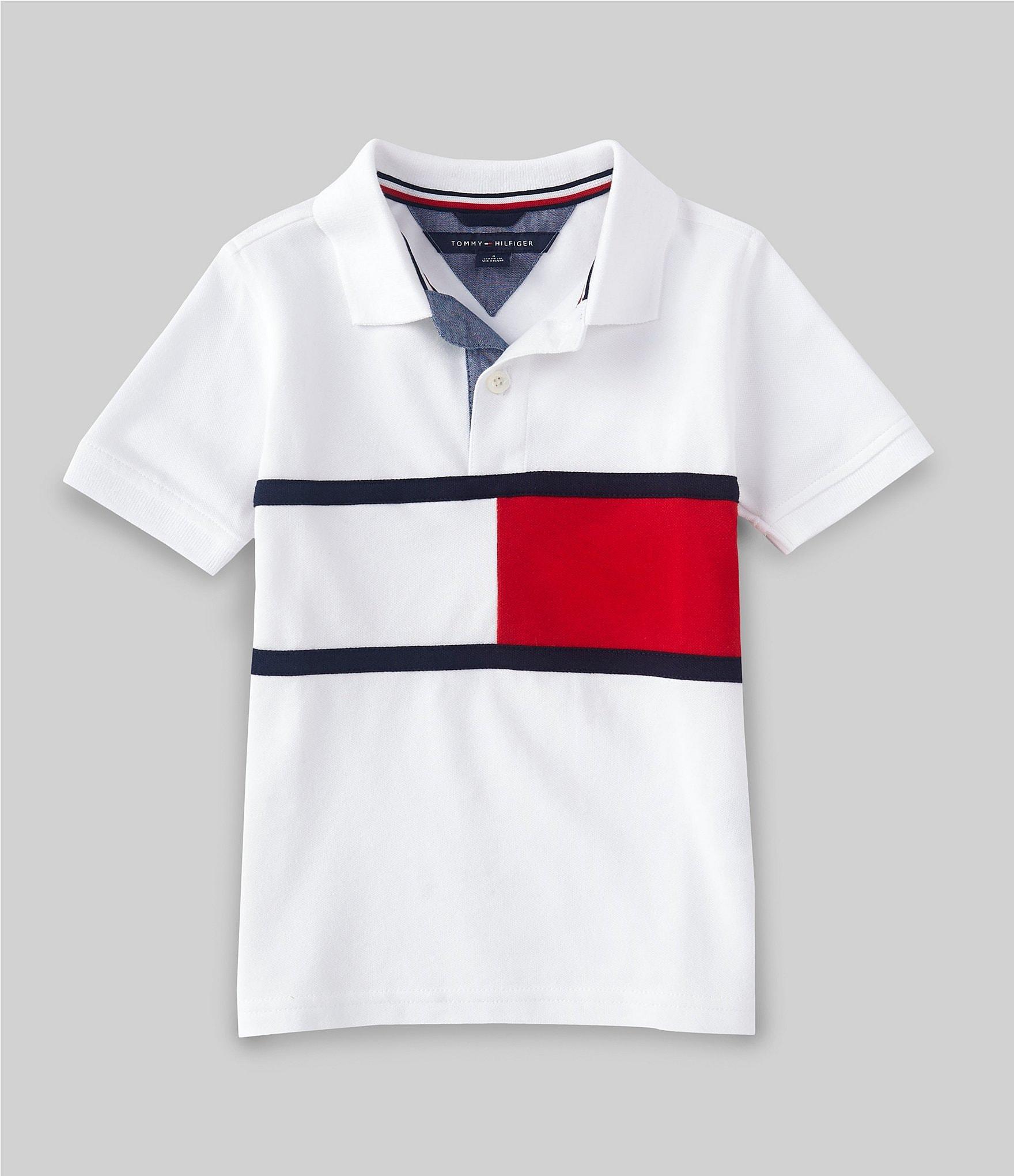 Tommy Hilfiger Boys Long Sleeve Douglas Striped Polo
