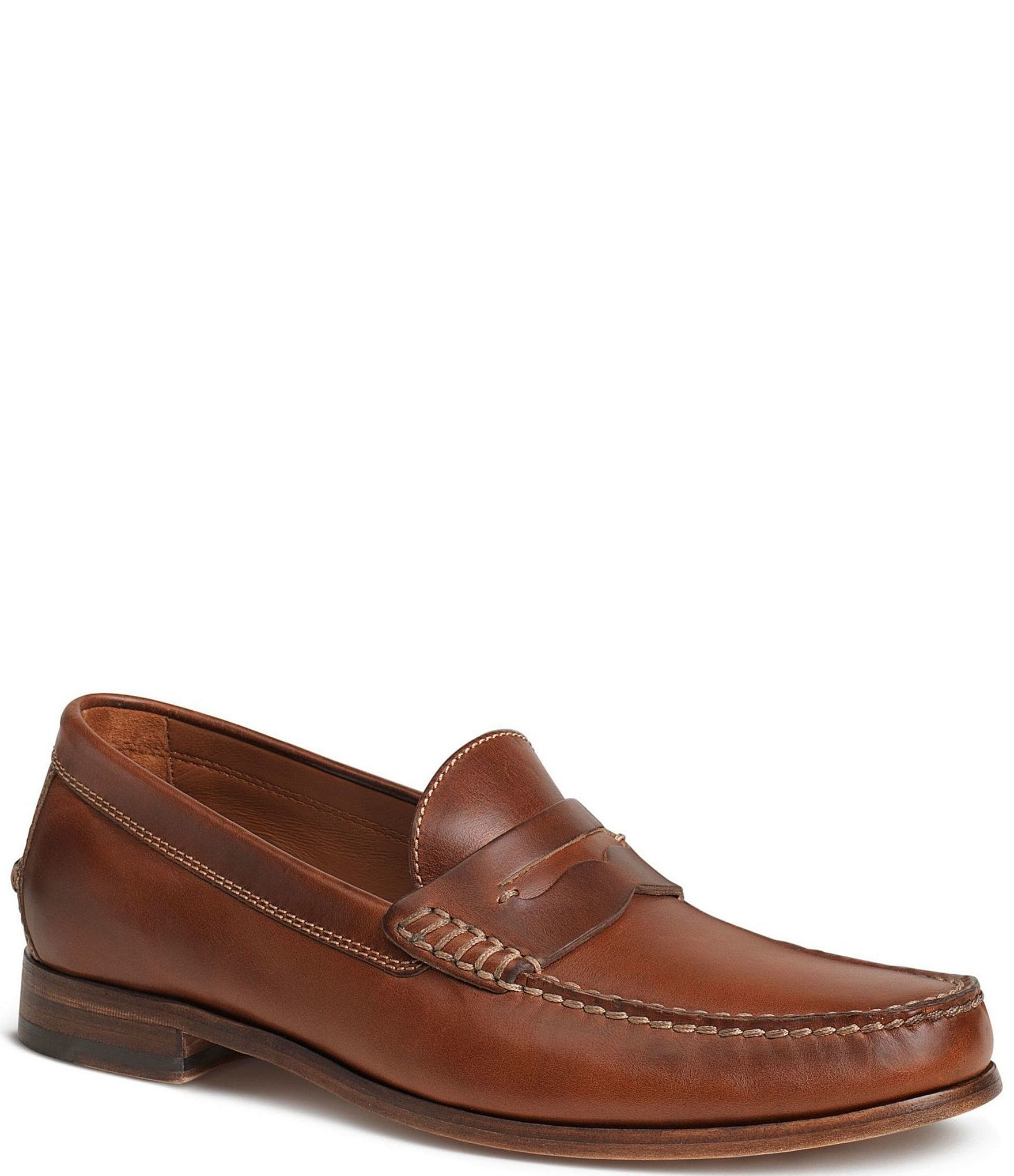 b542ff05576 Trask Men s Sadler American Steer Penny Loafers