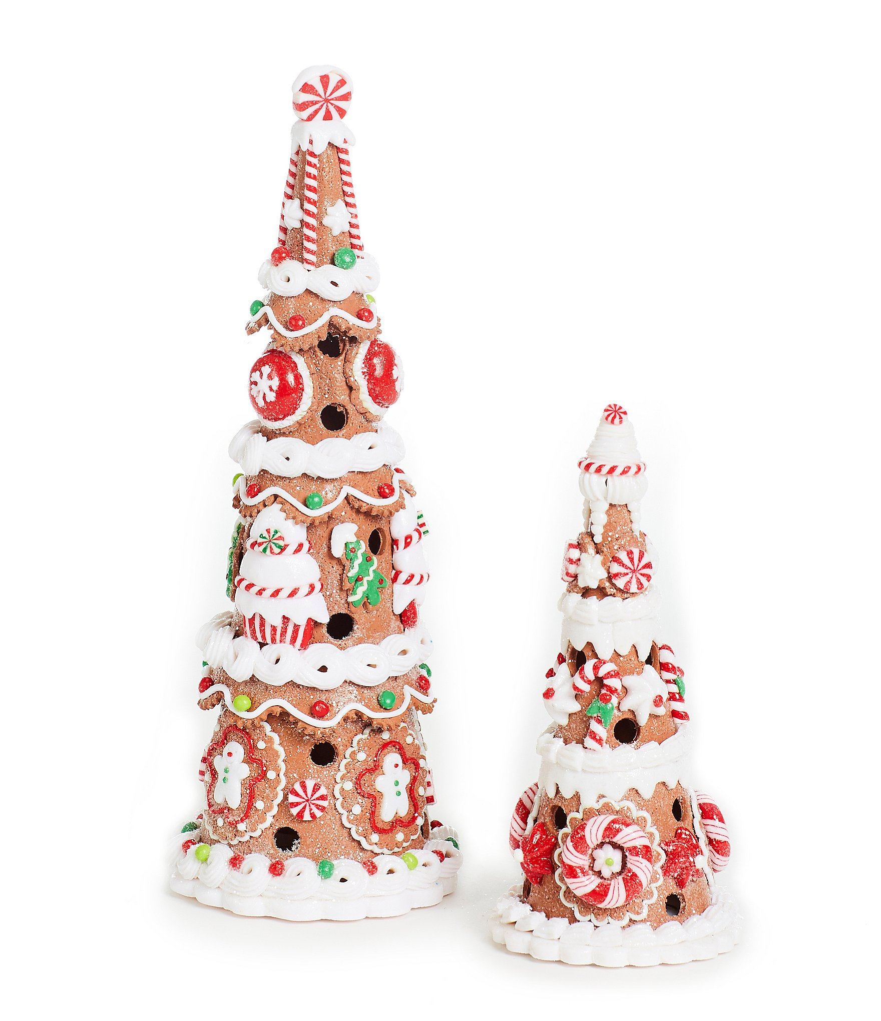 Gingerbread Christmas Tree.Trimsetter Gingerbread Collection Led Lighted Gingerbread Tree Holiday Decor