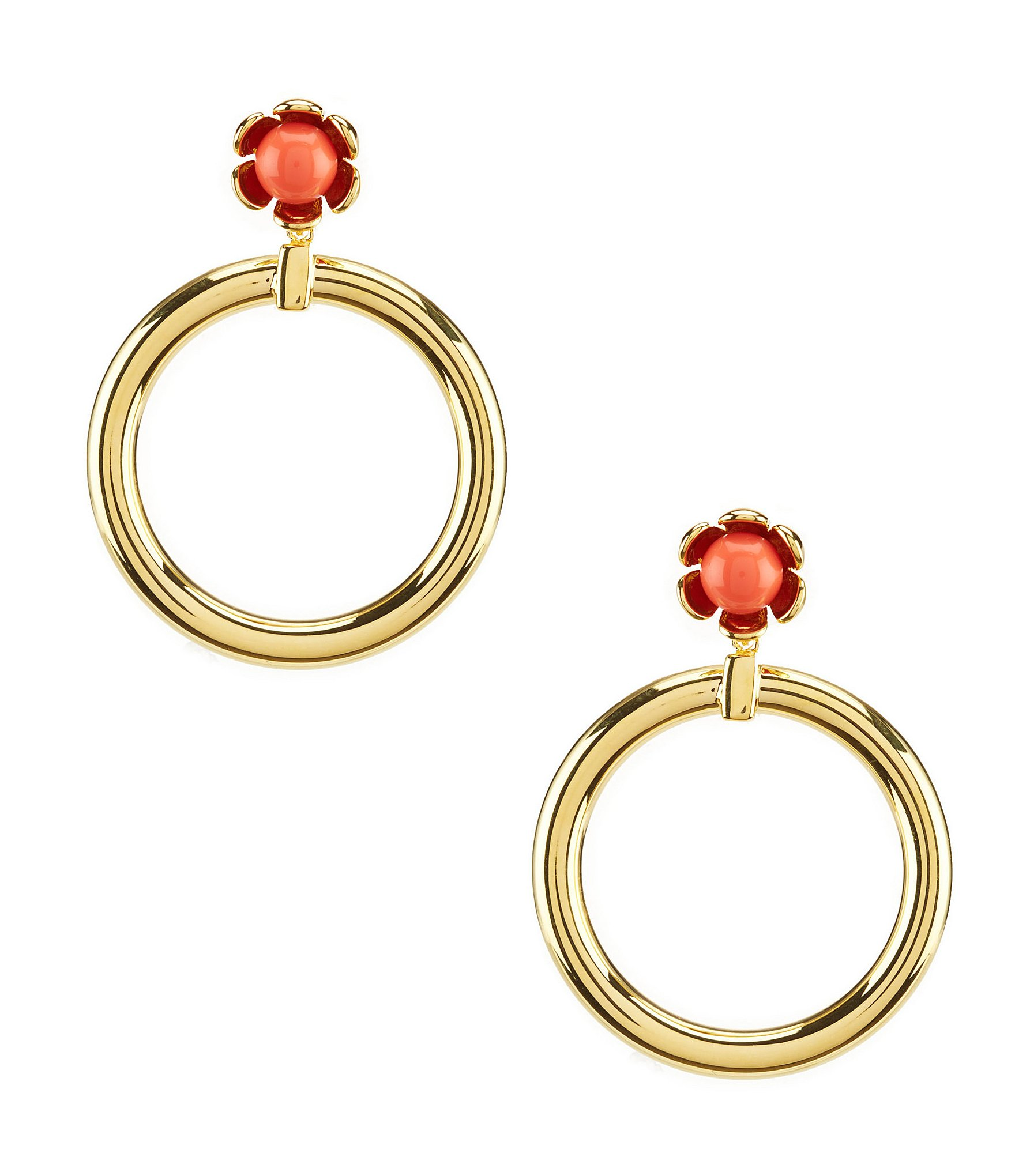 wildflower hoop drop earrings dillards