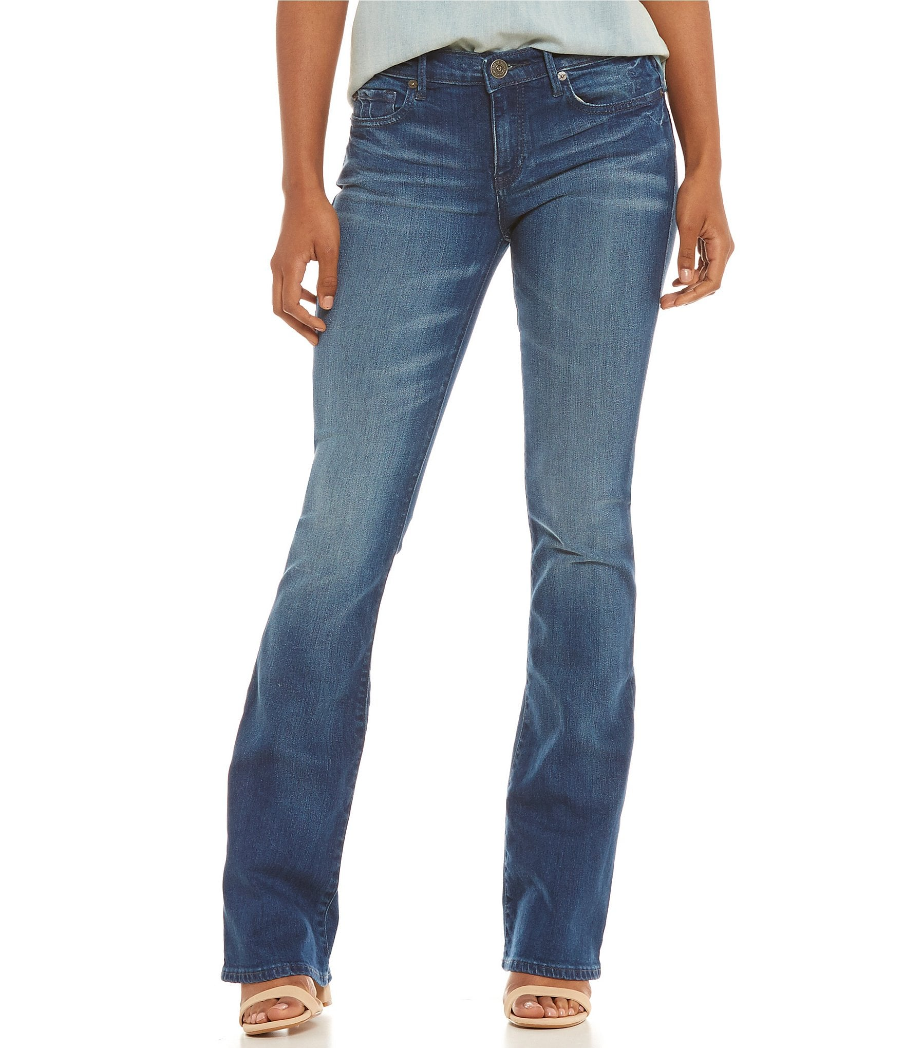 true religion becca mid rise bootcut jeans dillards. Black Bedroom Furniture Sets. Home Design Ideas