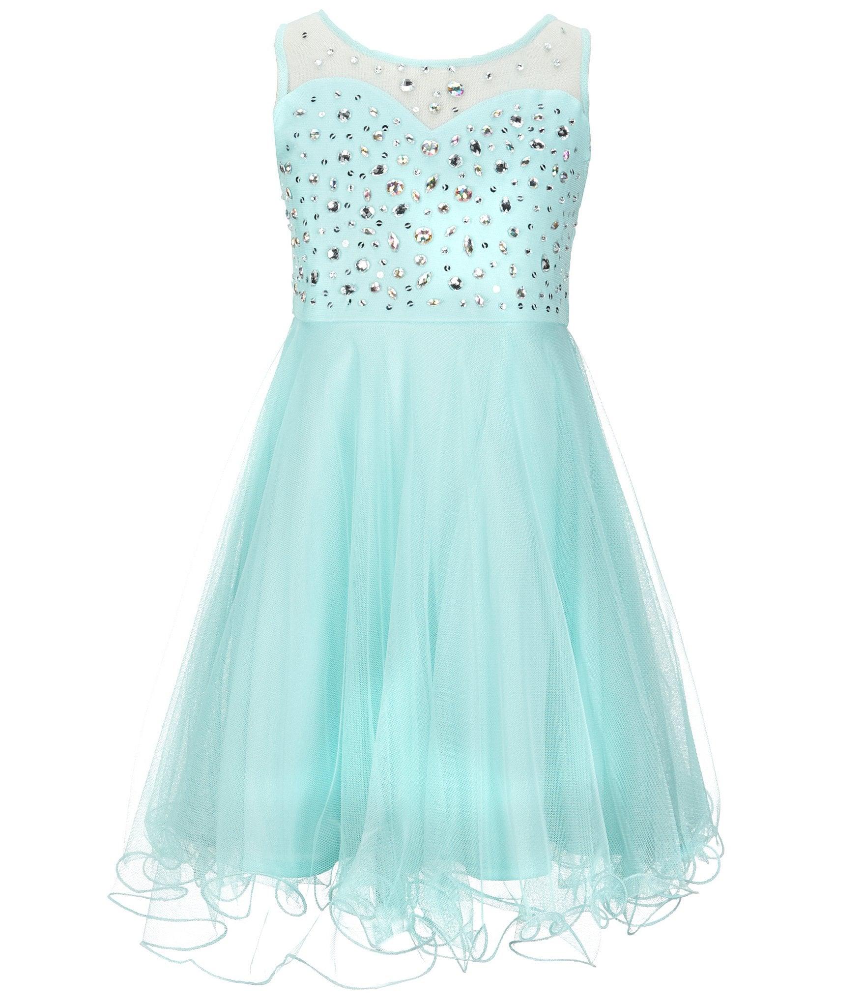 Tween diva big girls 7 16 beaded mesh dress dillards - Diva noche reviews ...