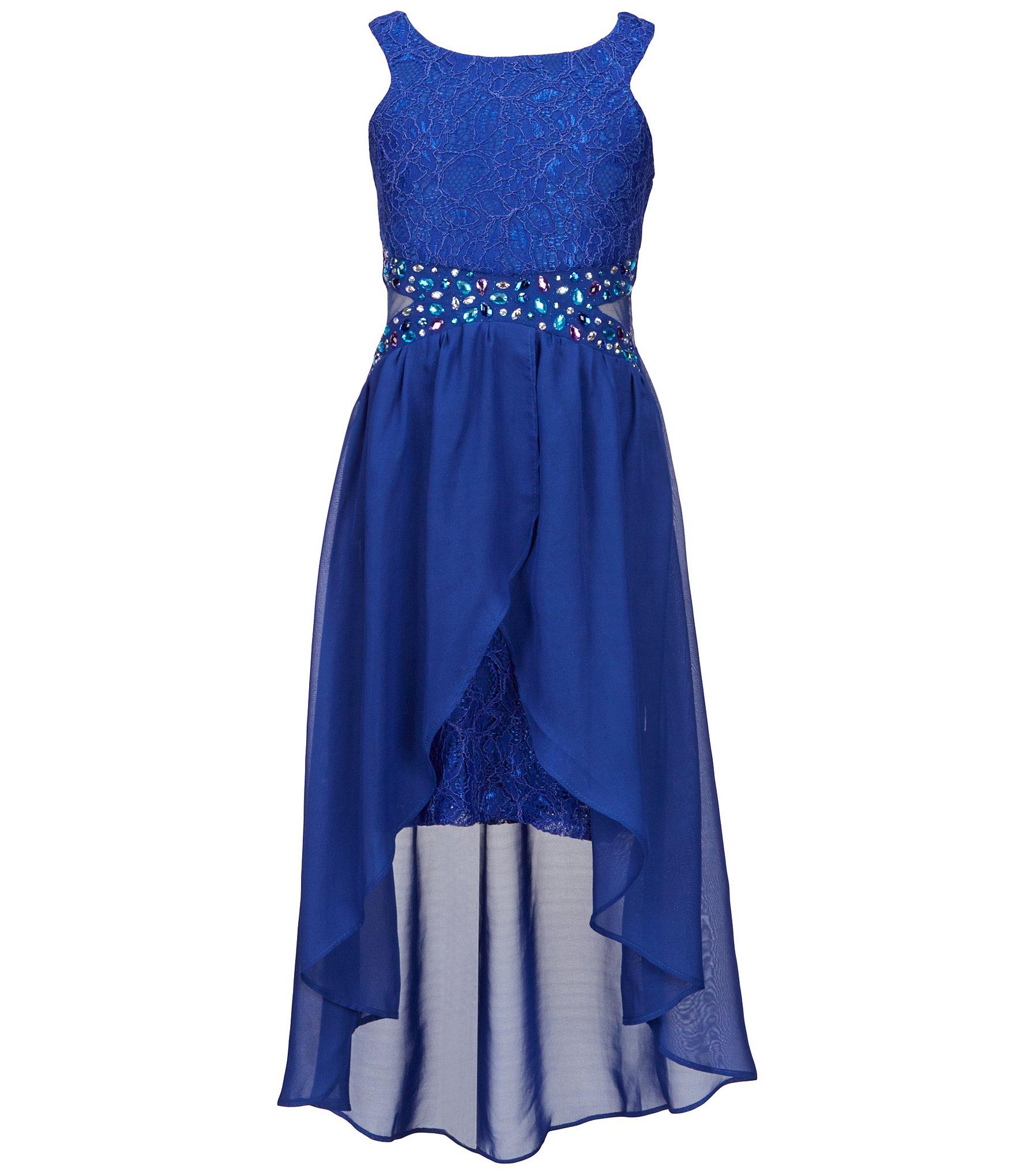 Tween Diva Big Girls 7 16 Lace Hi Low Dress