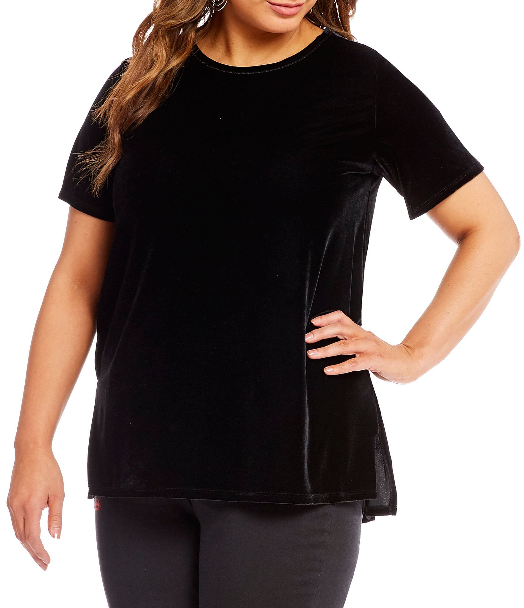 Two by vince camuto plus velvet t shirt dillards for Vince tee shirts sale
