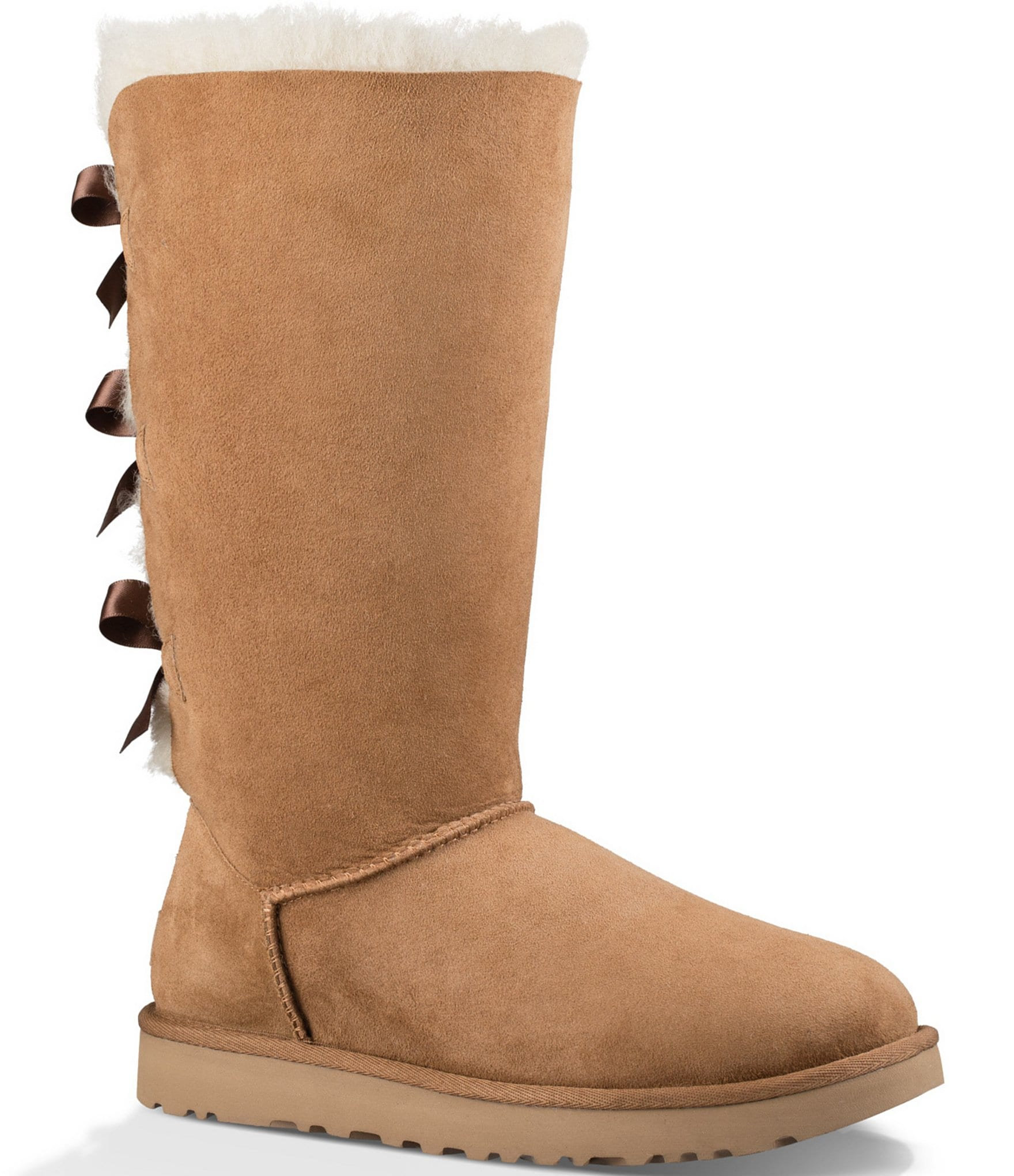 dc6b0a64c79 UGG® Bailey Bow Tall II Suede Water Resistant Boots | Dillard's
