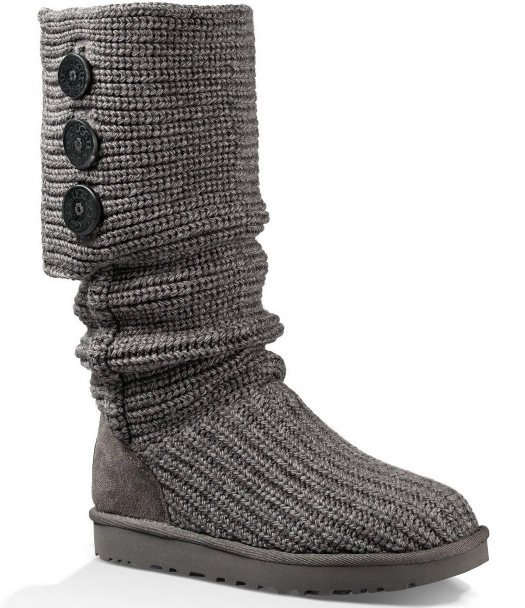 e3776d562fc UGG® Classic Cardy Button Detailed Knit Boots | Dillard's