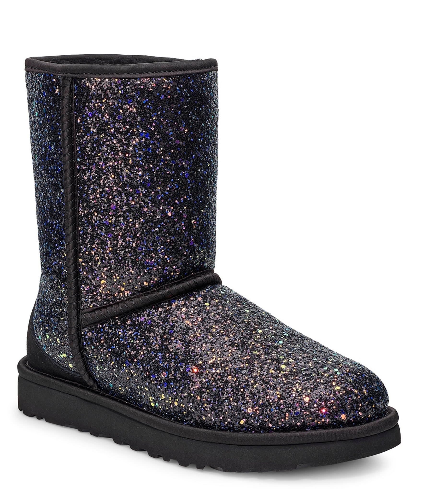 Ugg Classic Short Cosmos Glitter Boots Dillard S