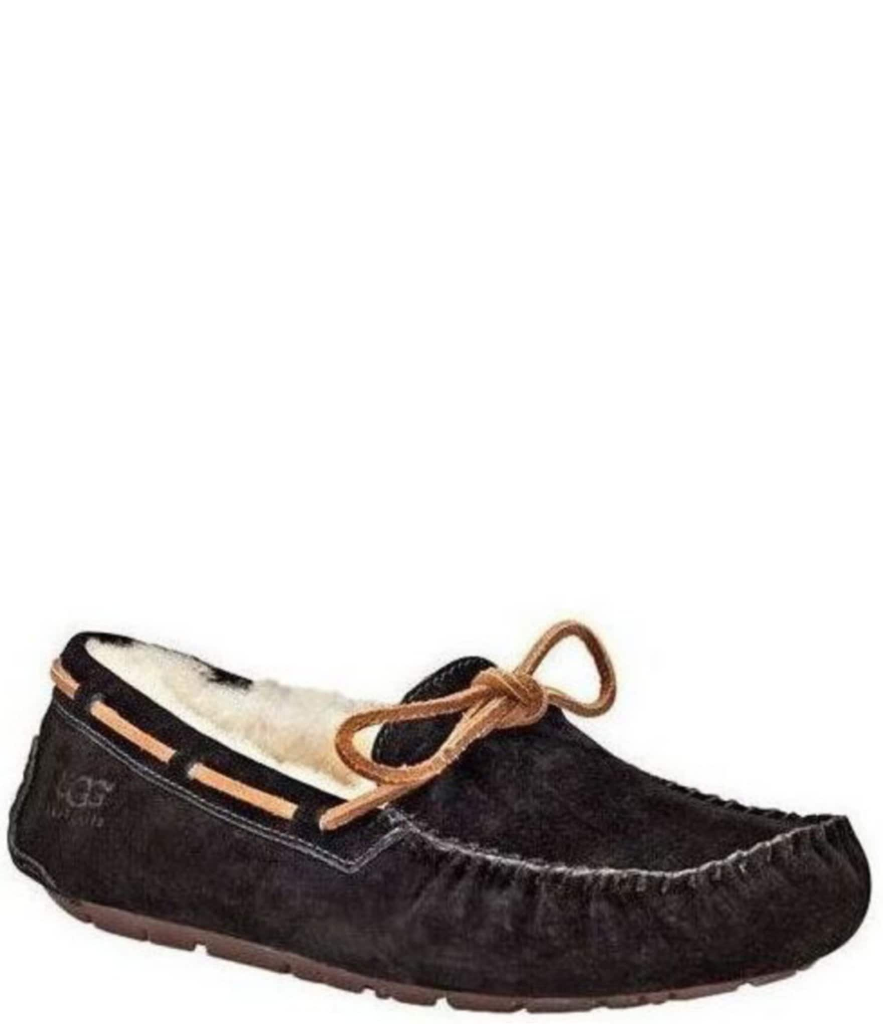 7944526d439 UGG® Dakota Moccasin Leather Lace & Bow Slip-On Slippers | Dillard's